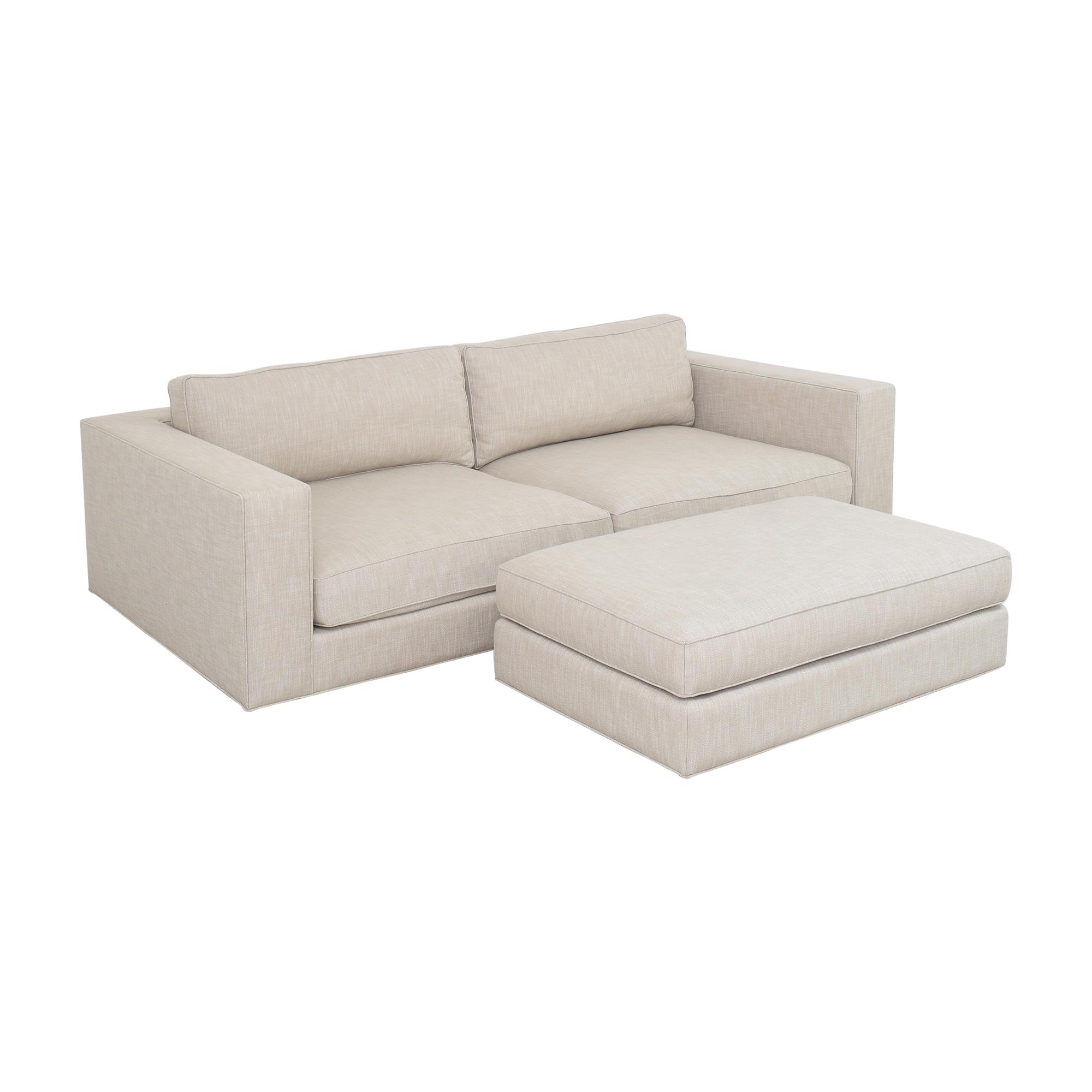buy Restoration Hardware Maddox Sofa with Ottoman Restoration Hardware Classic Sofas