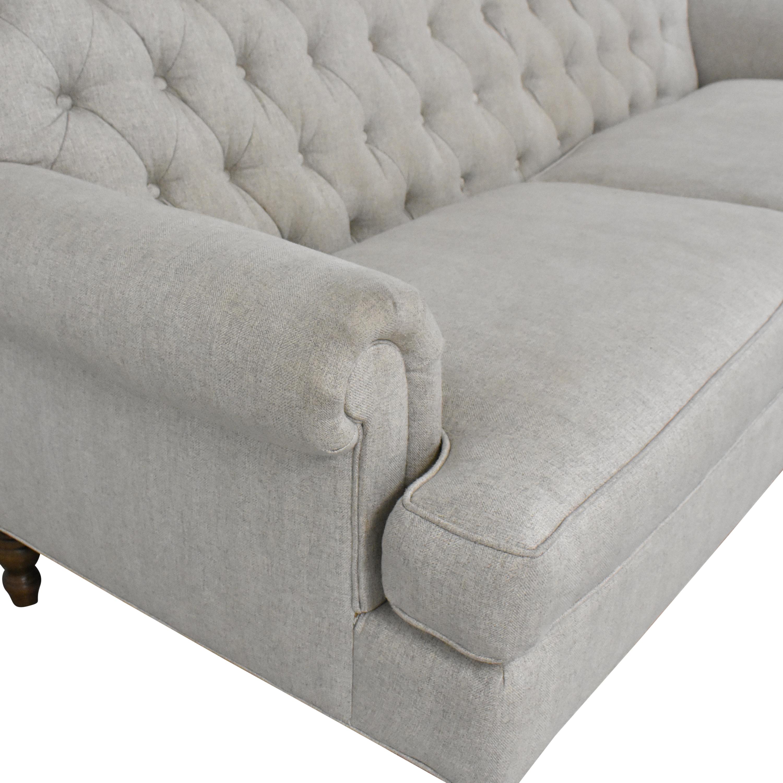 ABC Carpet & Home ABC Carpet & Home Tufted High Back Sofa second hand