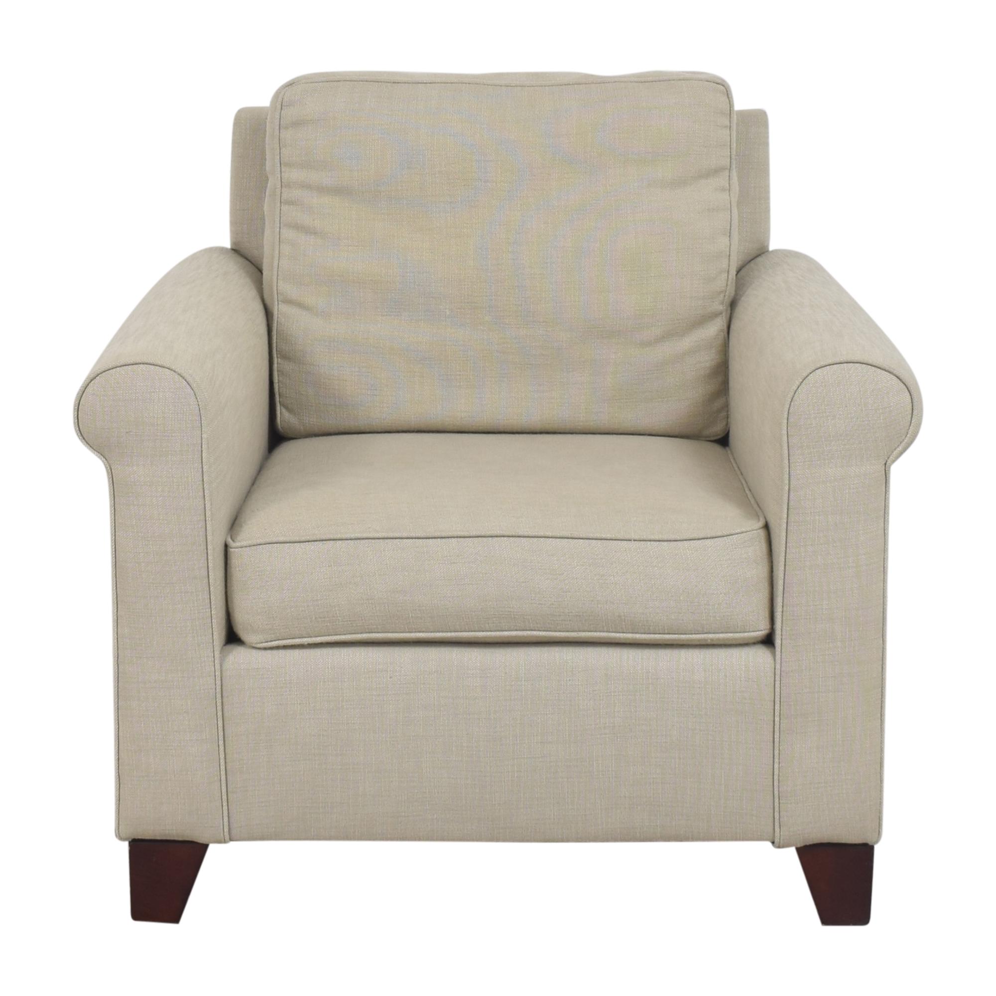 buy Pottery Barn Pottery Barn Cameron Roll Arm Deep Seat Armchair online