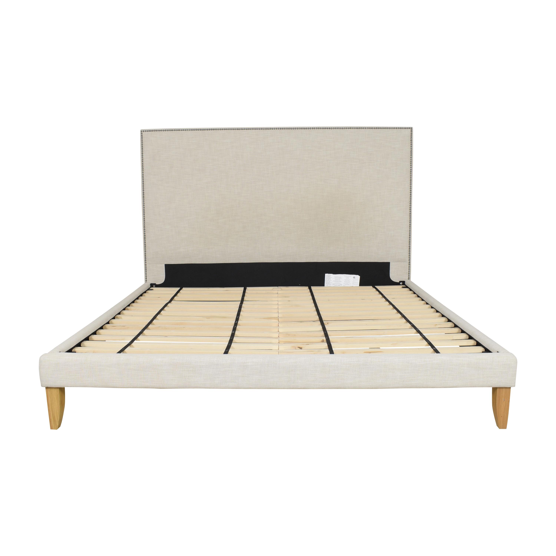 West Elm West Elm Nailhead Upholstered King Bed on sale