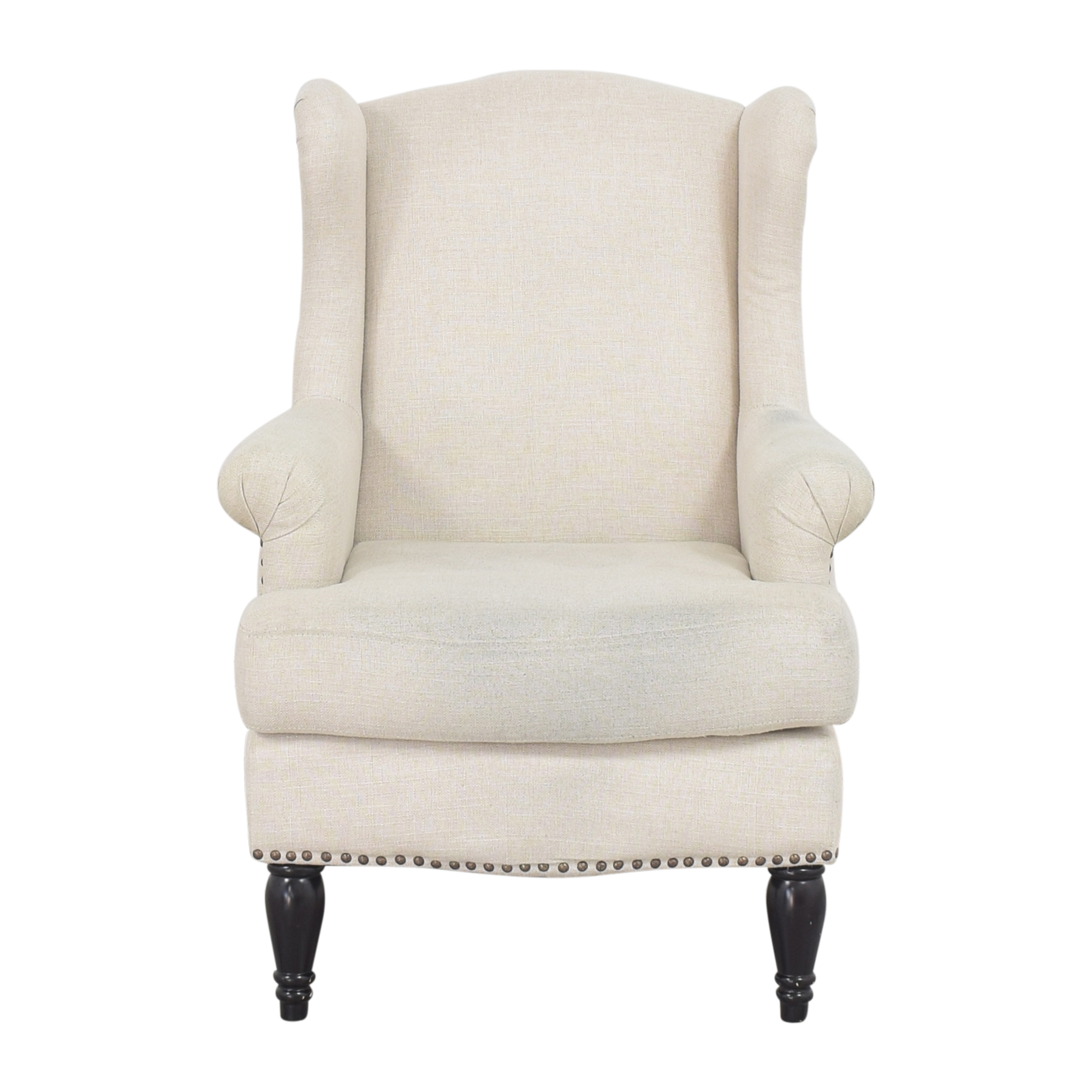 Pottery Barn Pottery Barn Delancey Petite Upholstered Wingback Armchair ct