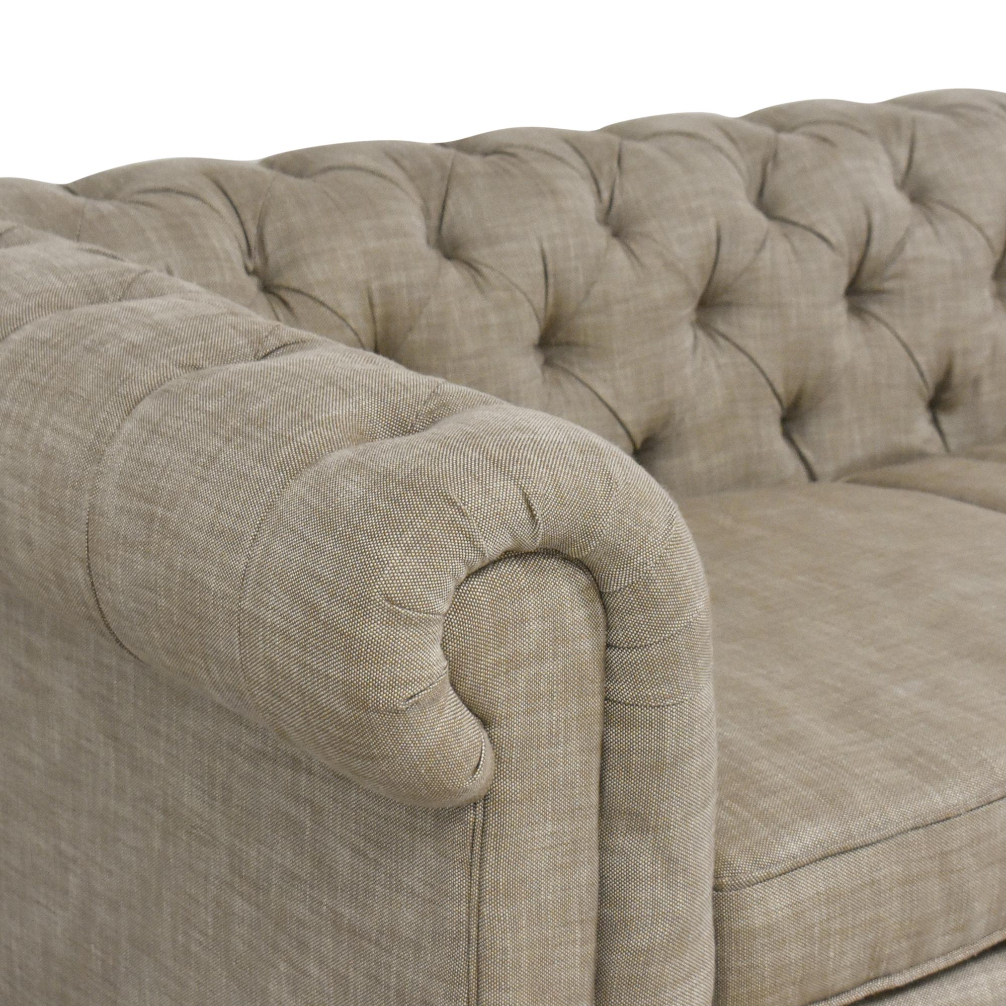 shop Restoration Hardware Tufted Kensington Sofa Restoration Hardware