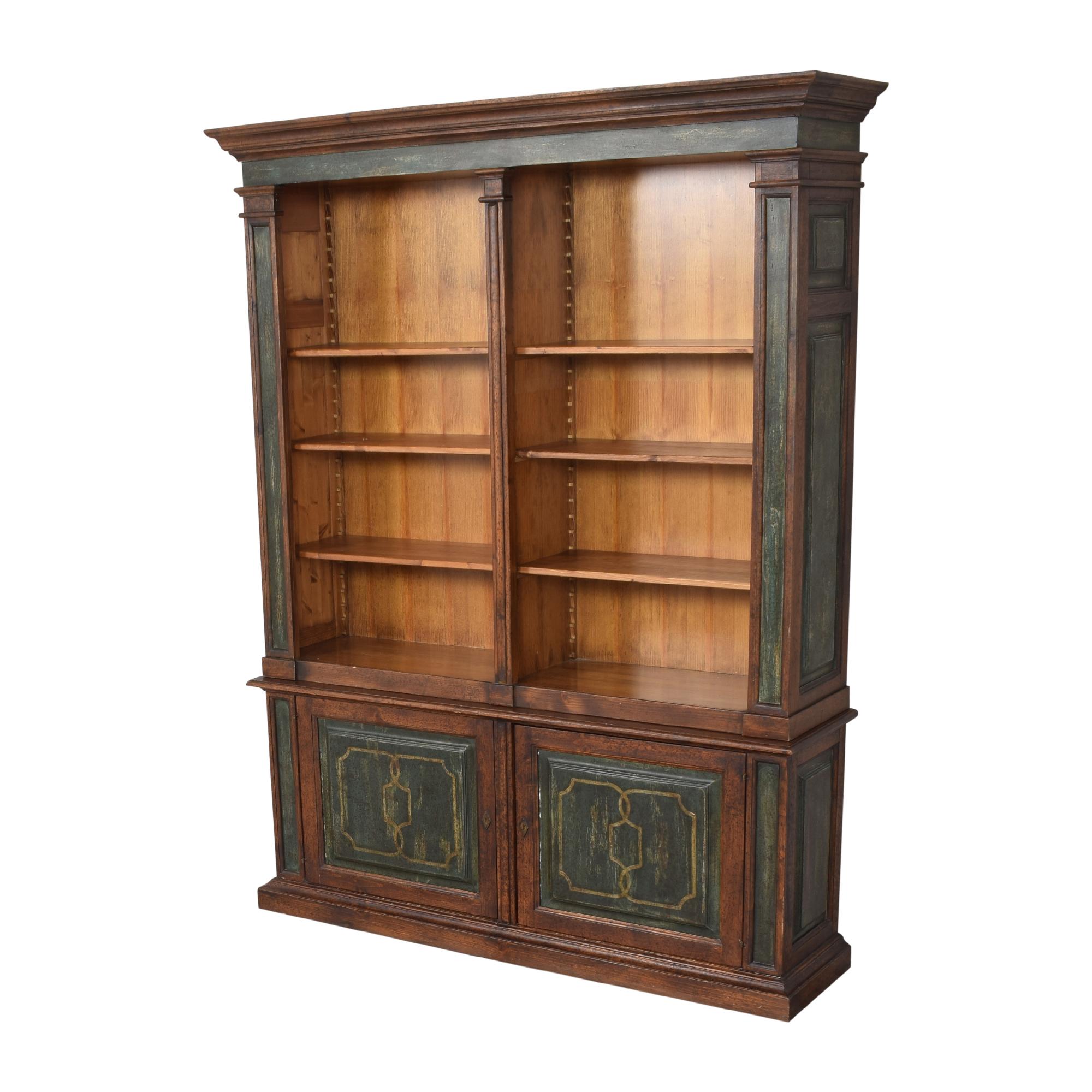 shop Vintage Double Bookcase  Storage