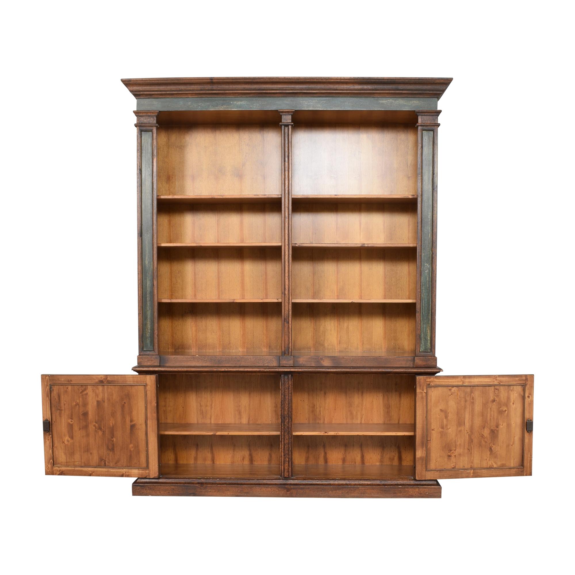 shop Vintage Double Bookcase