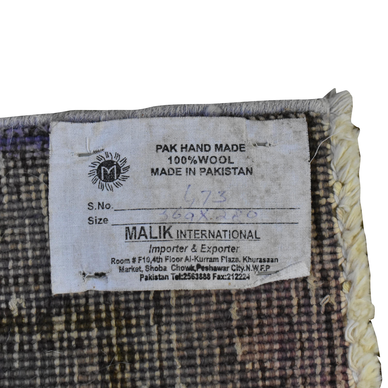 Malik Malik Overdyed Distressed Rug coupon