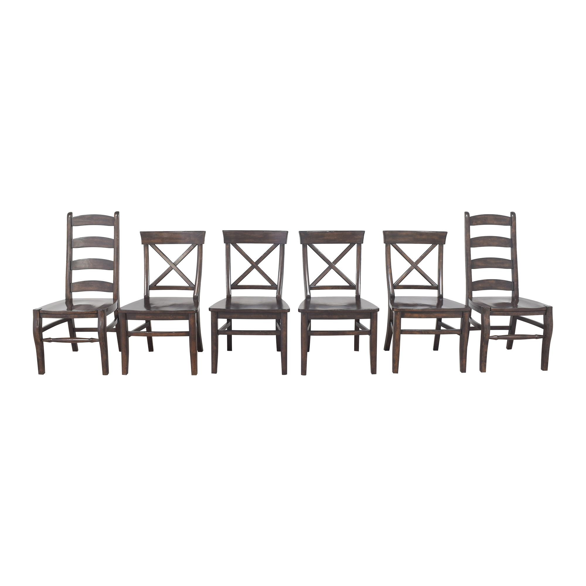 shop Pottery Barn Pottery Barn Aaron and Wynn Ladderback Dining Chairs online