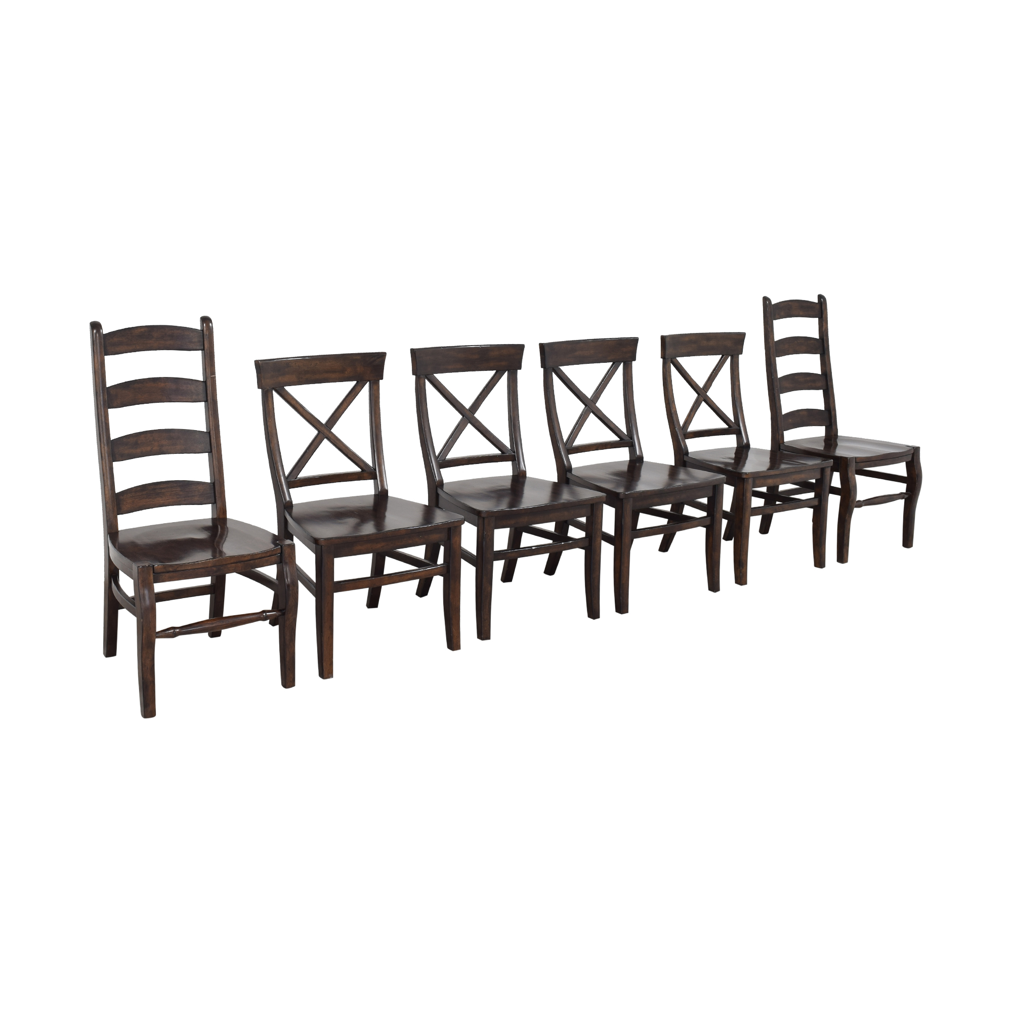 Pottery Barn Pottery Barn Aaron and Wynn Ladderback Dining Chairs pa