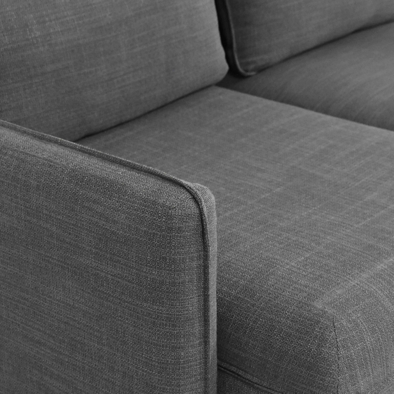 IKEA IKEA Vallentuna Three Seat Modular Sleeper Sofa gray