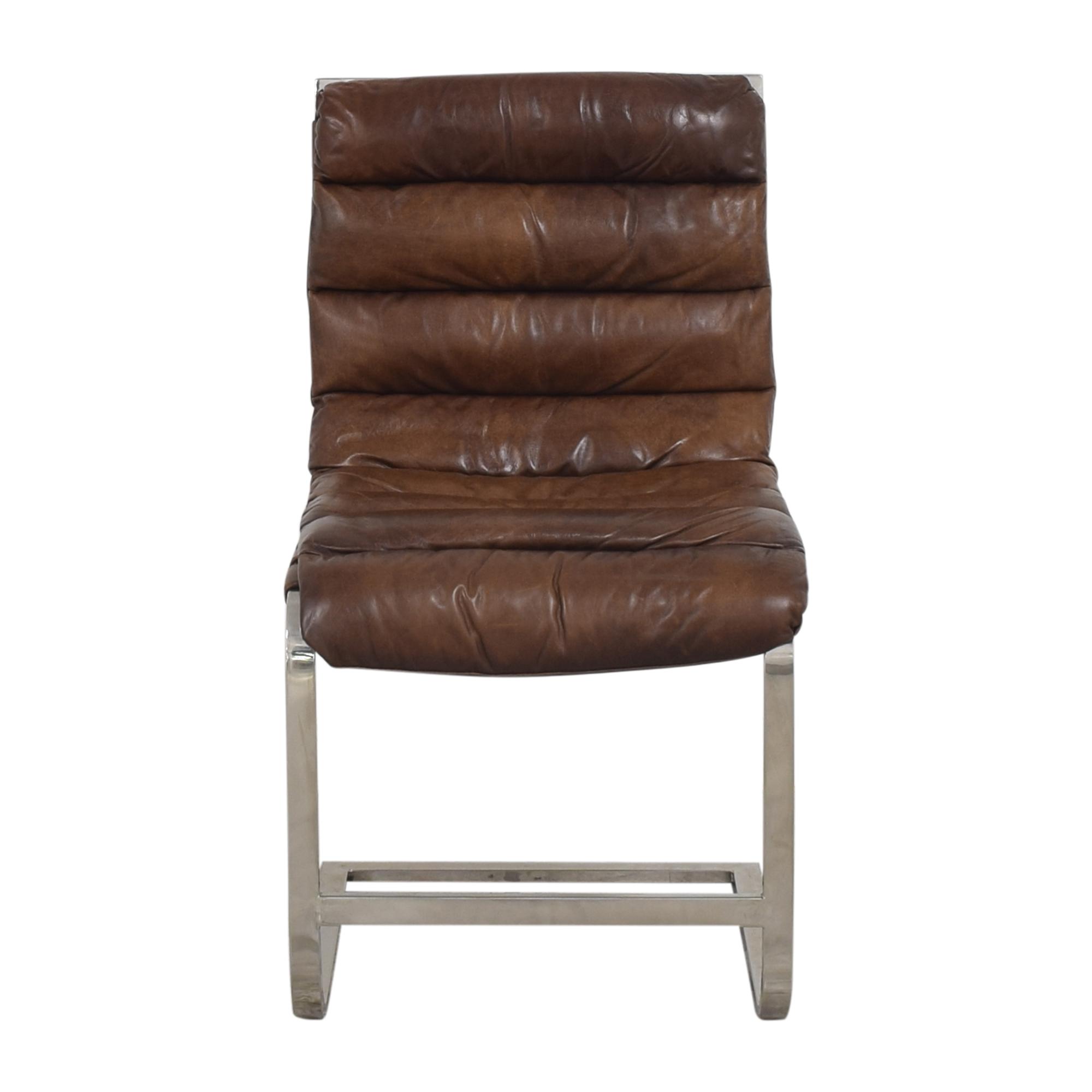 Restoration Hardware Restoration Hardware Oviedo Modern Side Chair brown & silver