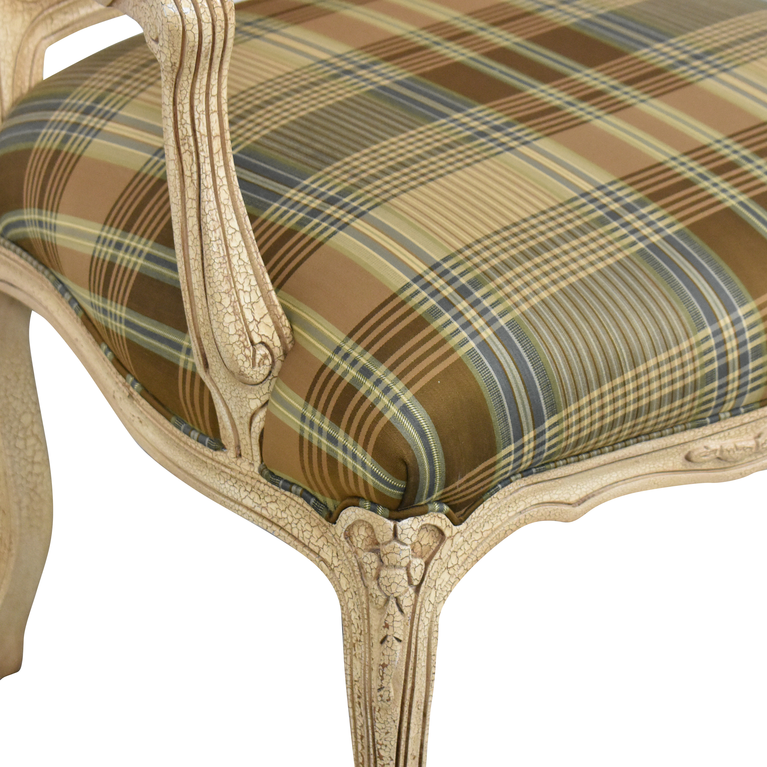 buy Hancock and Moore Hancock and Moore Plaid Seat Arm Chair online