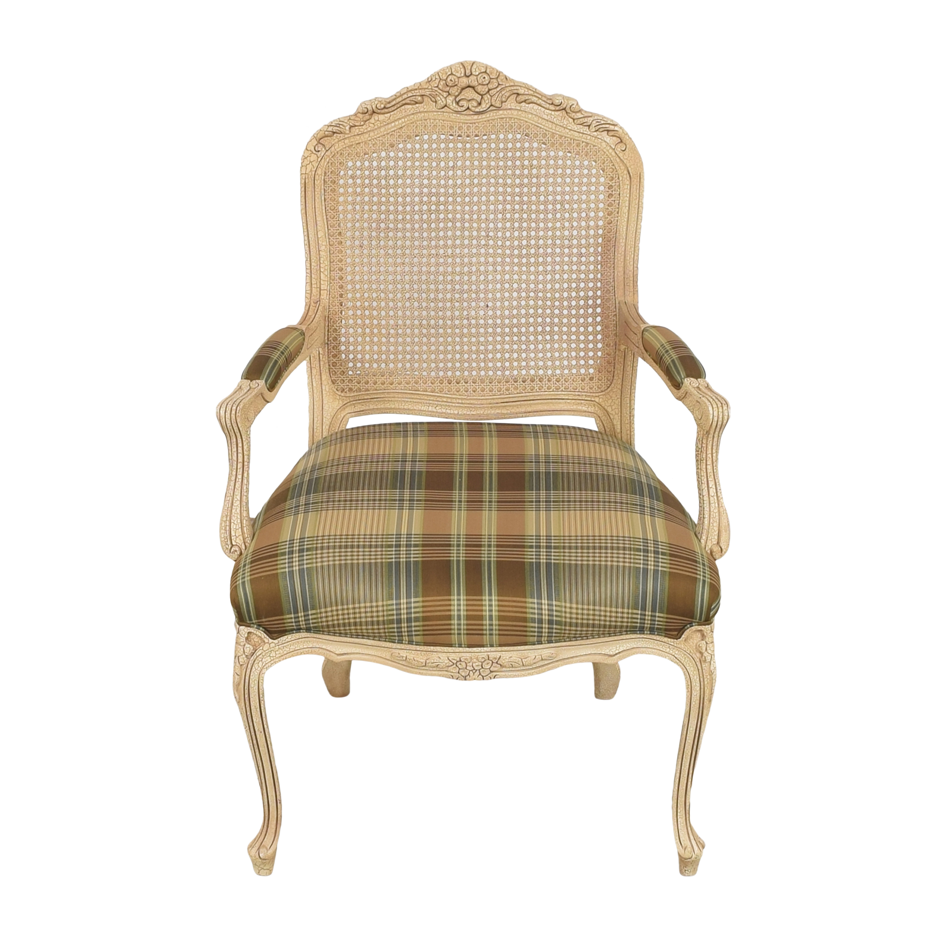 Hancock and Moore Hancock and Moore Plaid Seat Arm Chair Chairs