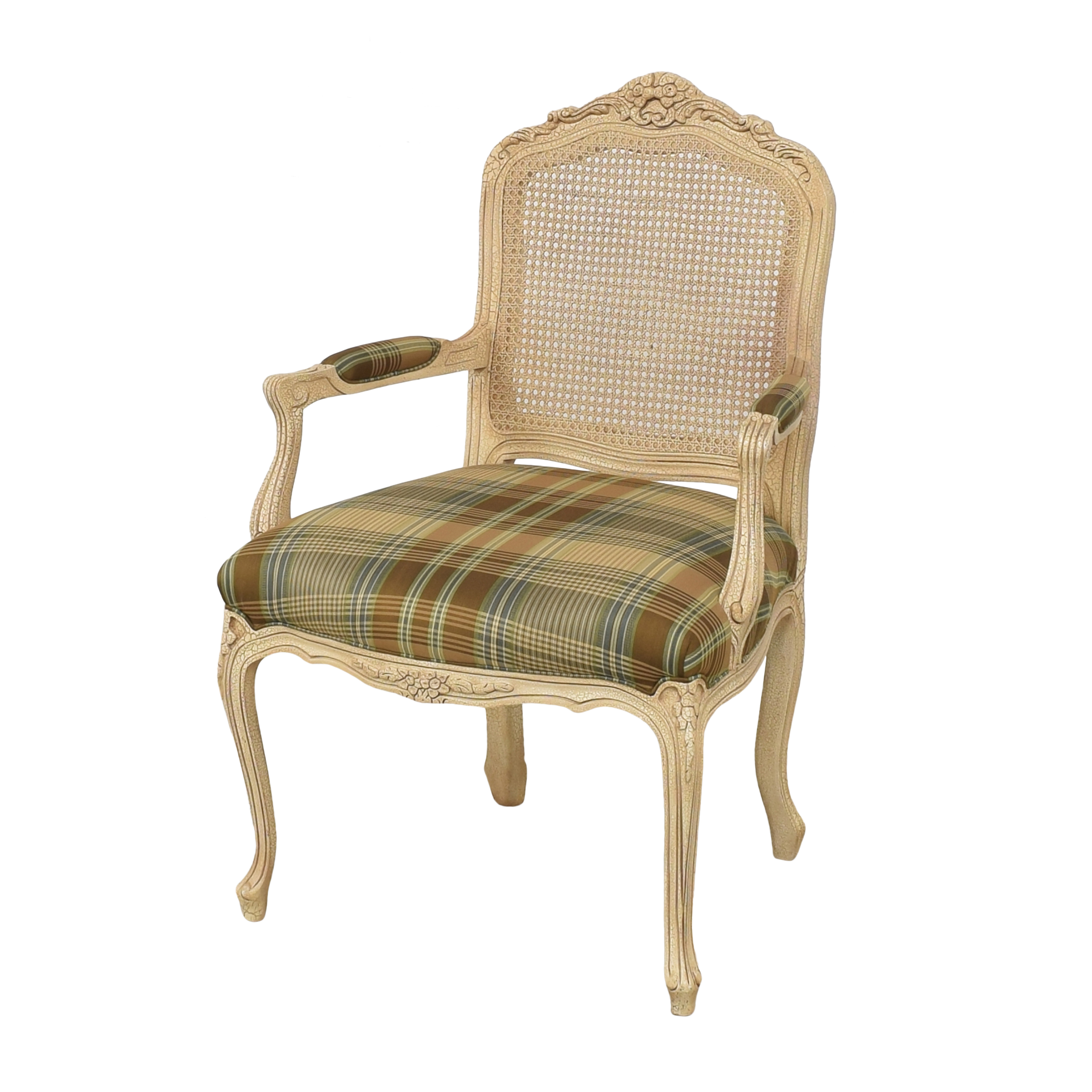 Hancock and Moore Hancock and Moore Plaid Seat Arm Chair second hand