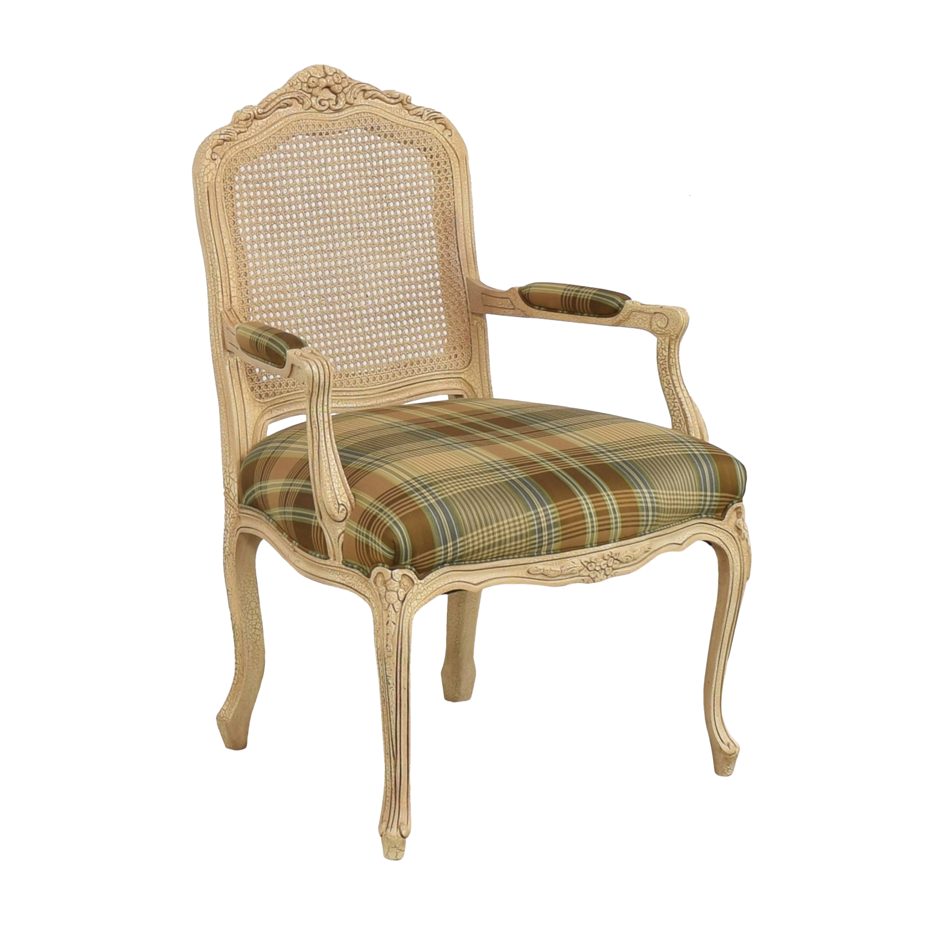 shop Hancock and Moore Hancock and Moore Plaid Seat Arm Chair online