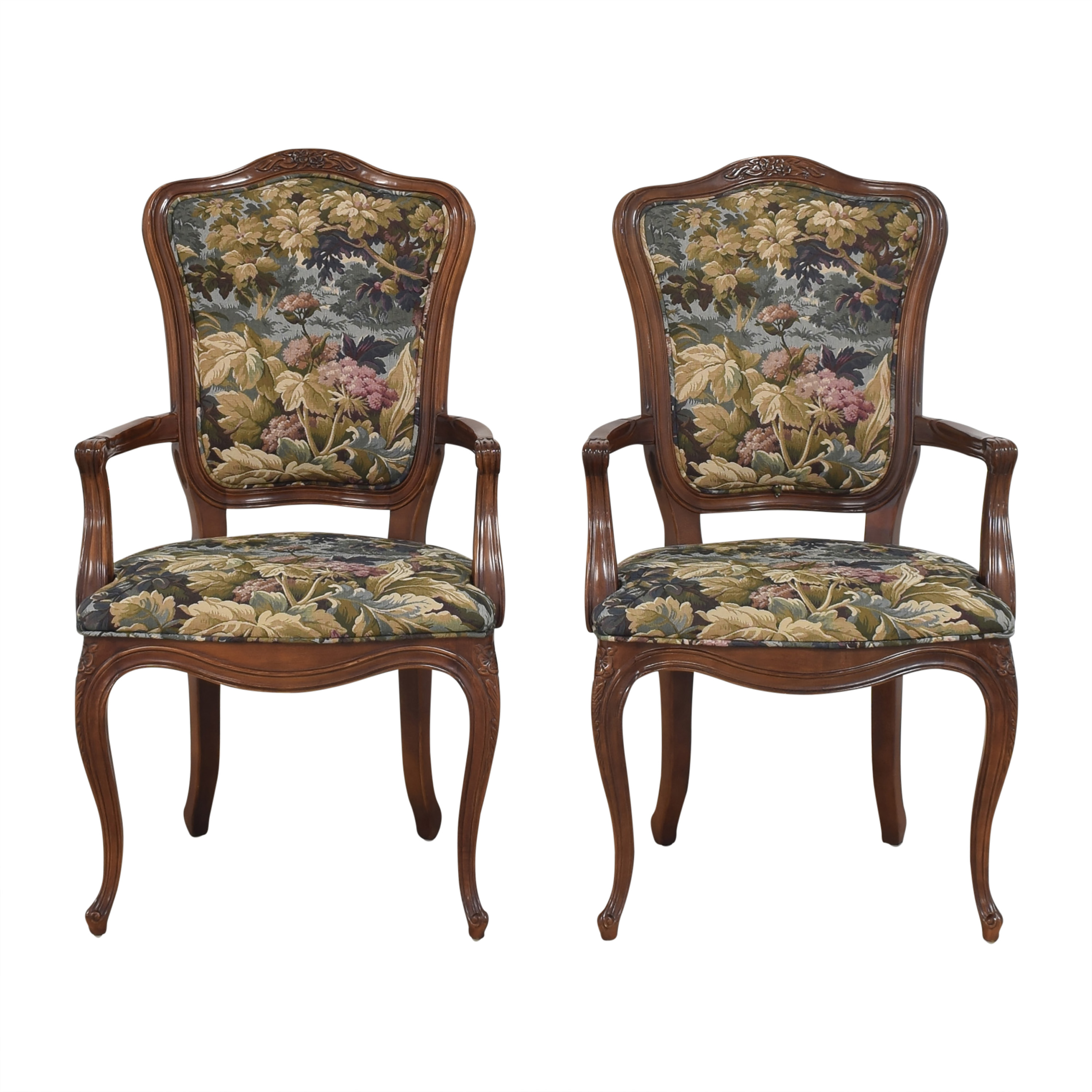 Henredon Furniture Henredon Versailles Collection Dining Arm Chairs for sale