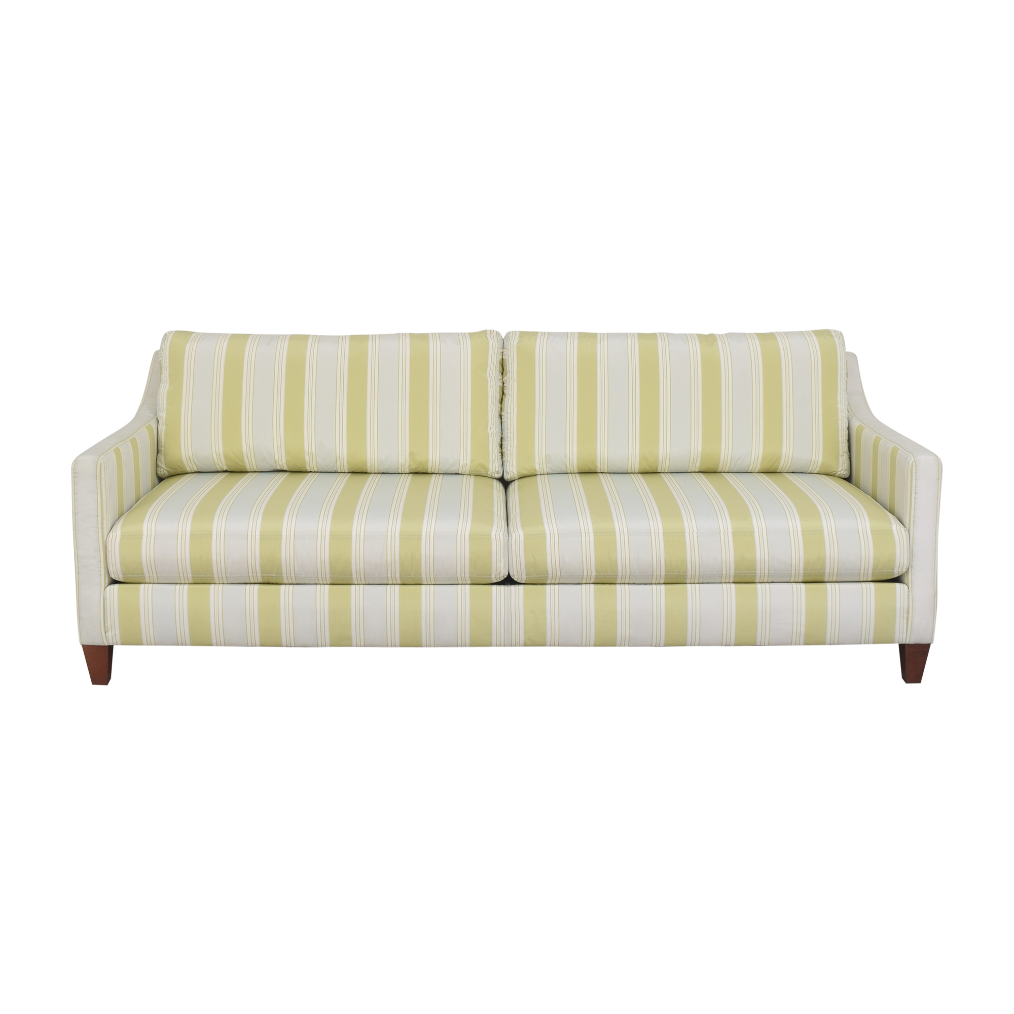 buy Ethan Allen Ethan Allen Striped Two Cushion Sofa online