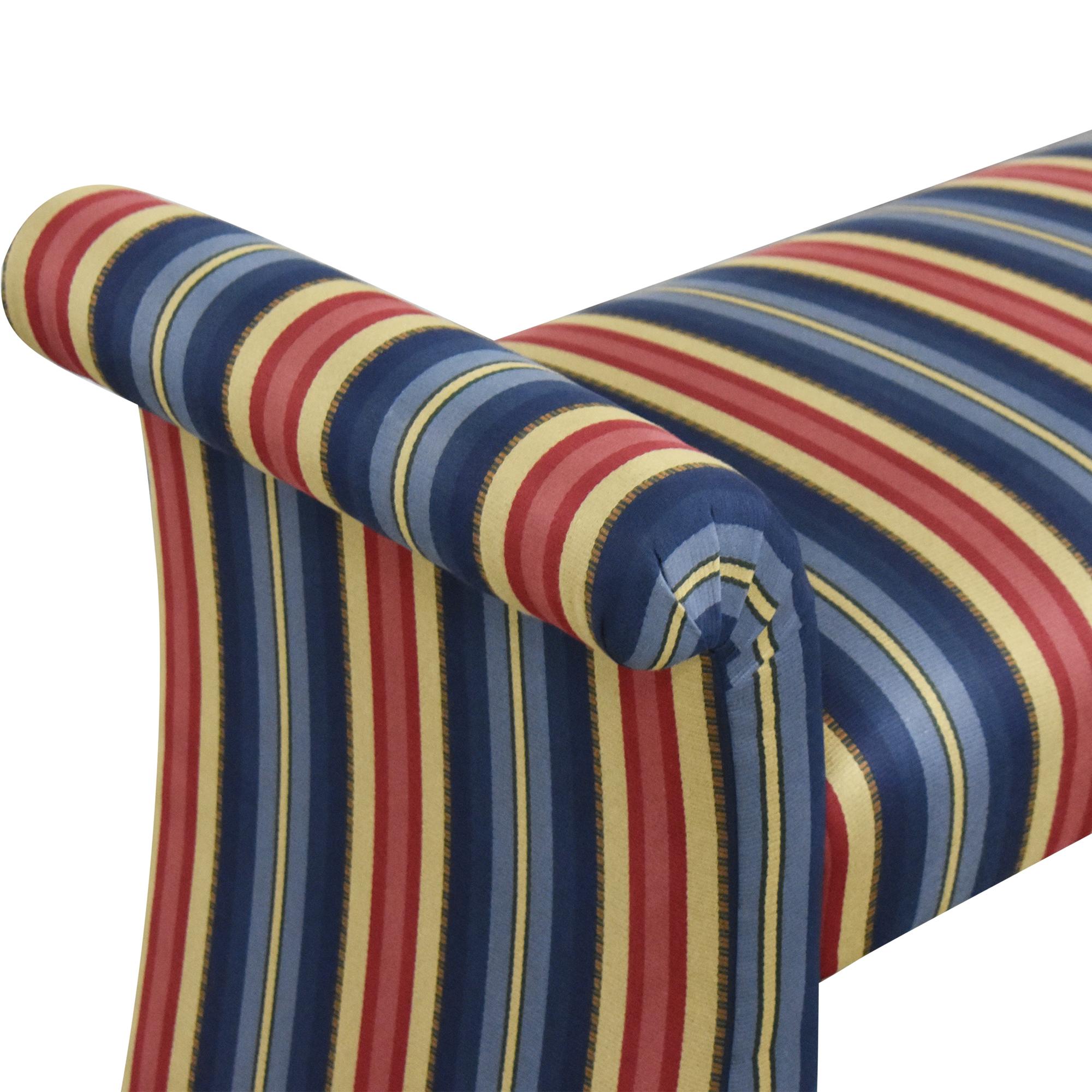 Custom Upholstered Bench used