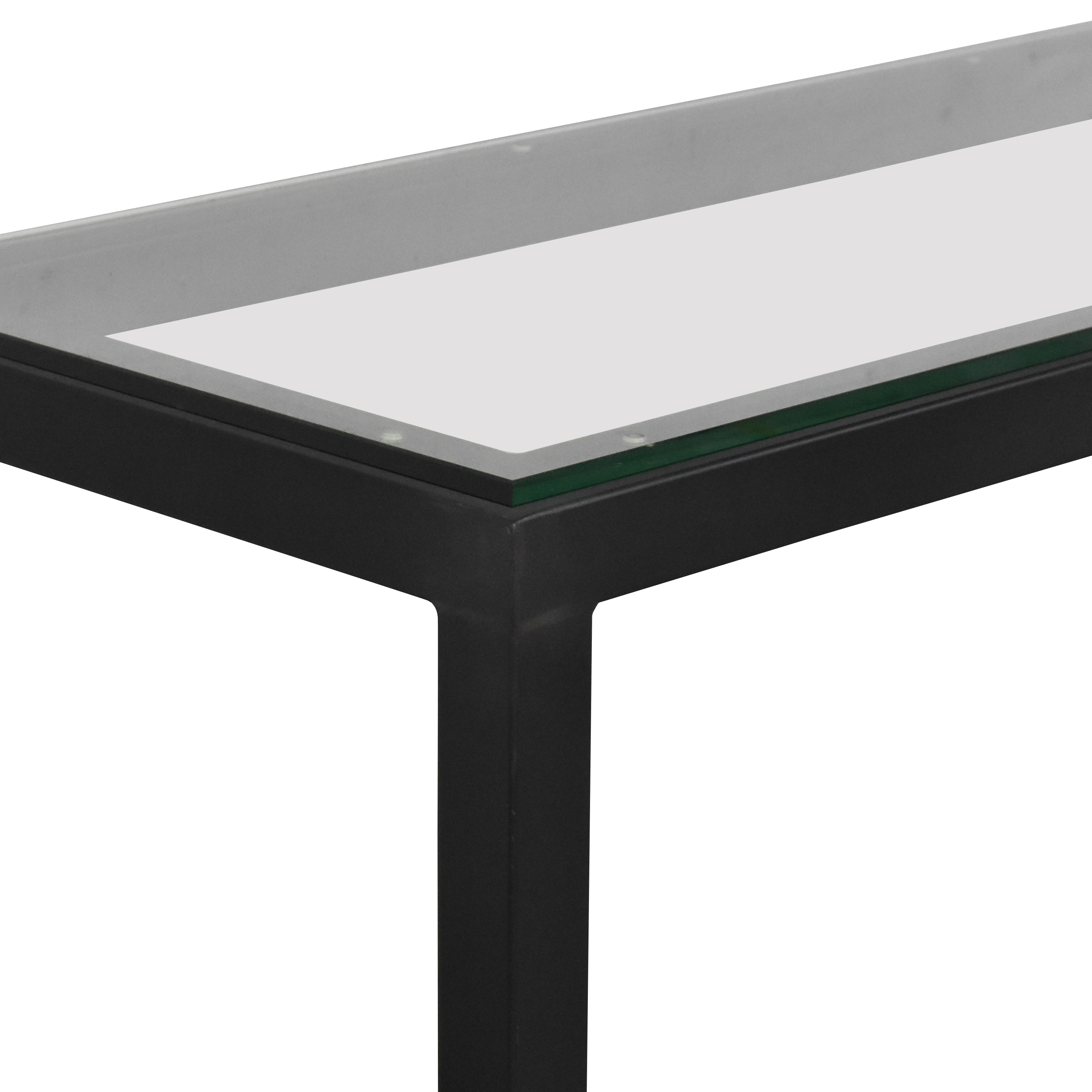 buy Room & Board Parsons Table with Translucent Surface Room & Board Tables