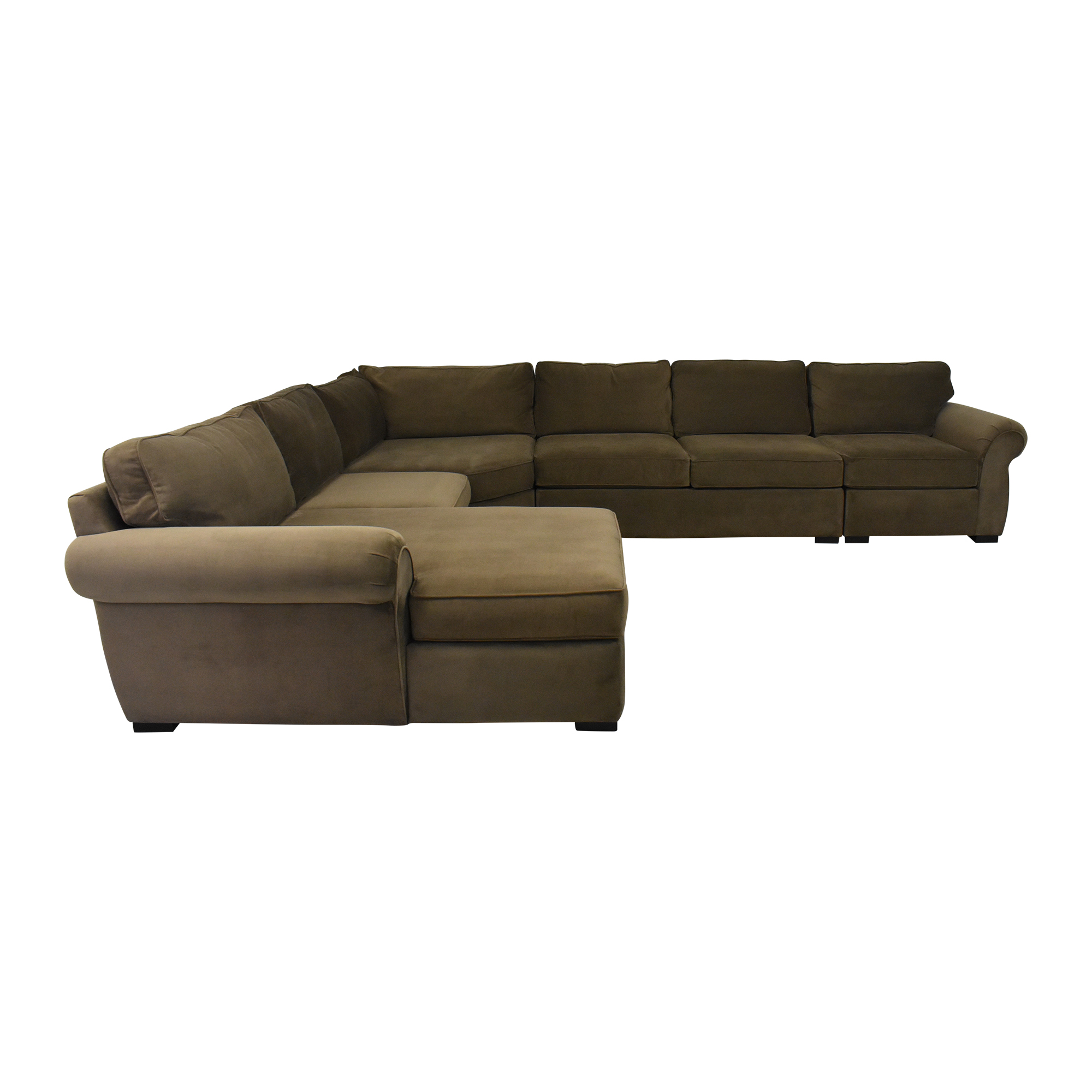 Macy's Macy's Corner Sectional Sofa with Chaise  used