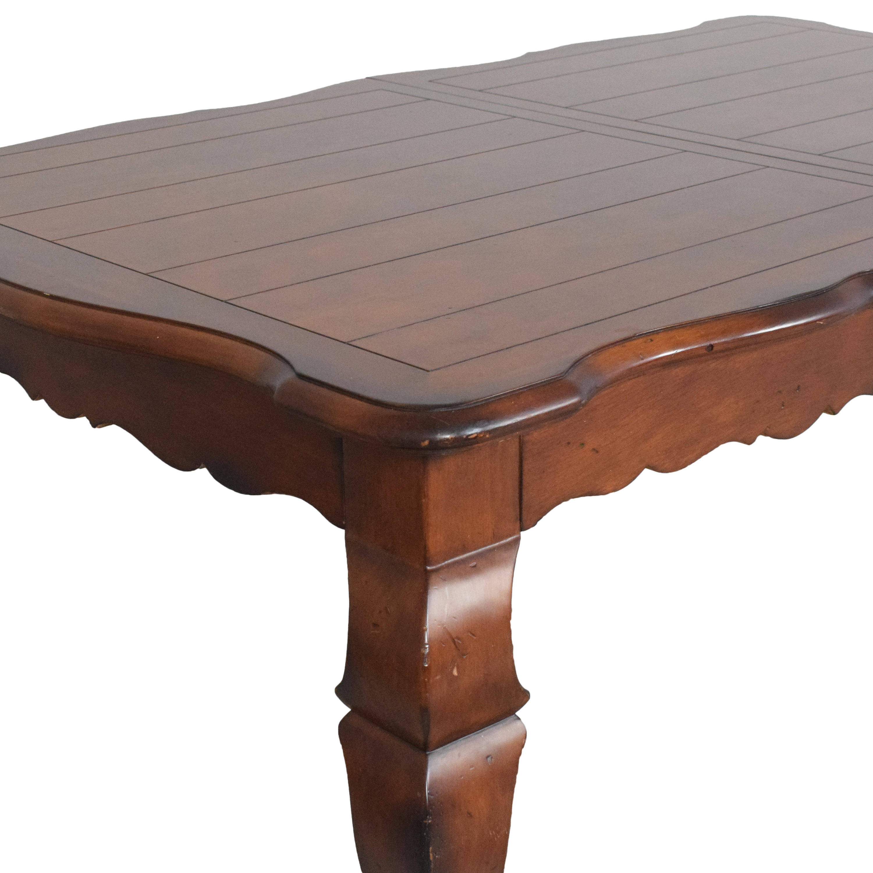 Hickory White Hickory White French Country Extendable Dining Table  for sale