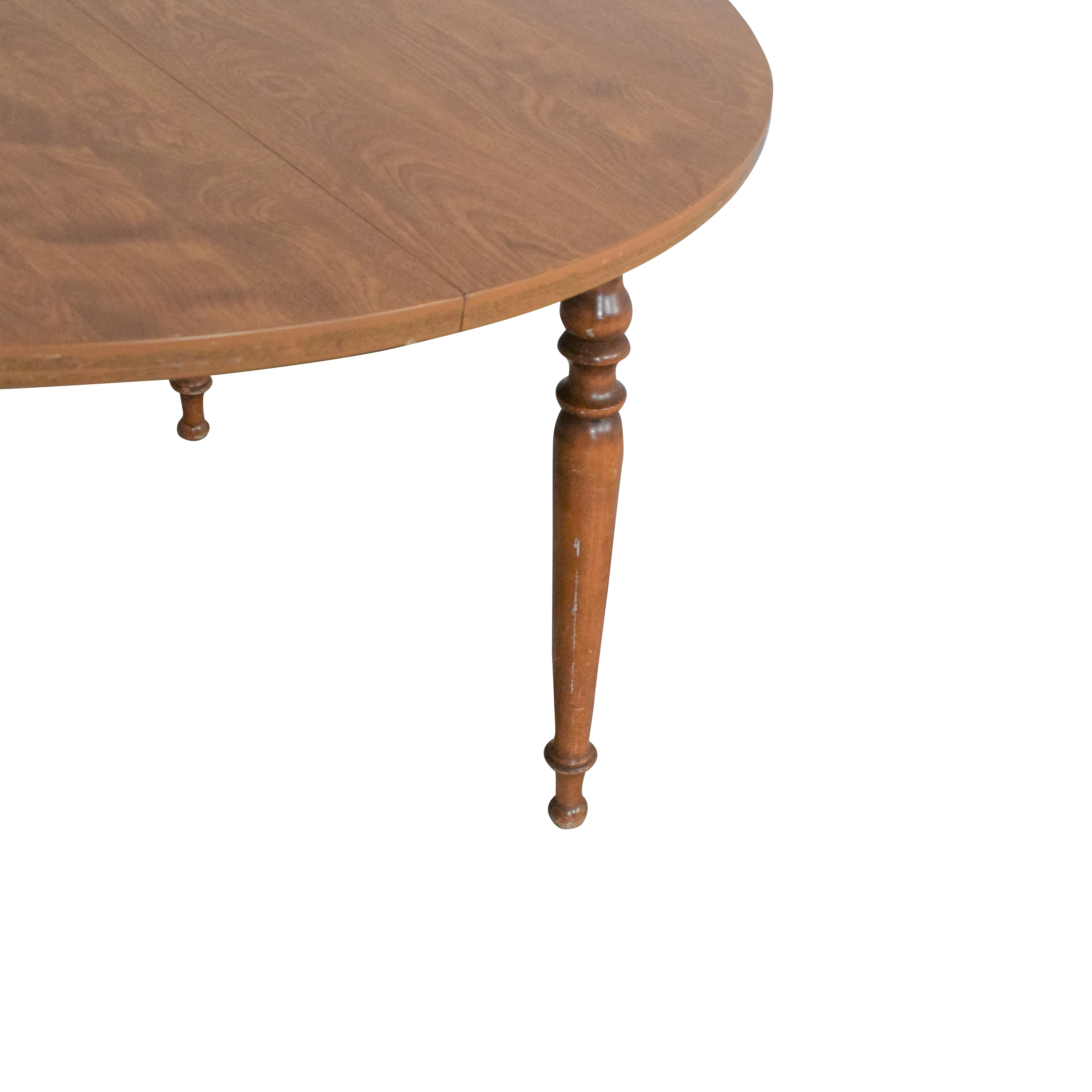 buy Ethan Allen Vintage Extendable Round Dining Table Ethan Allen