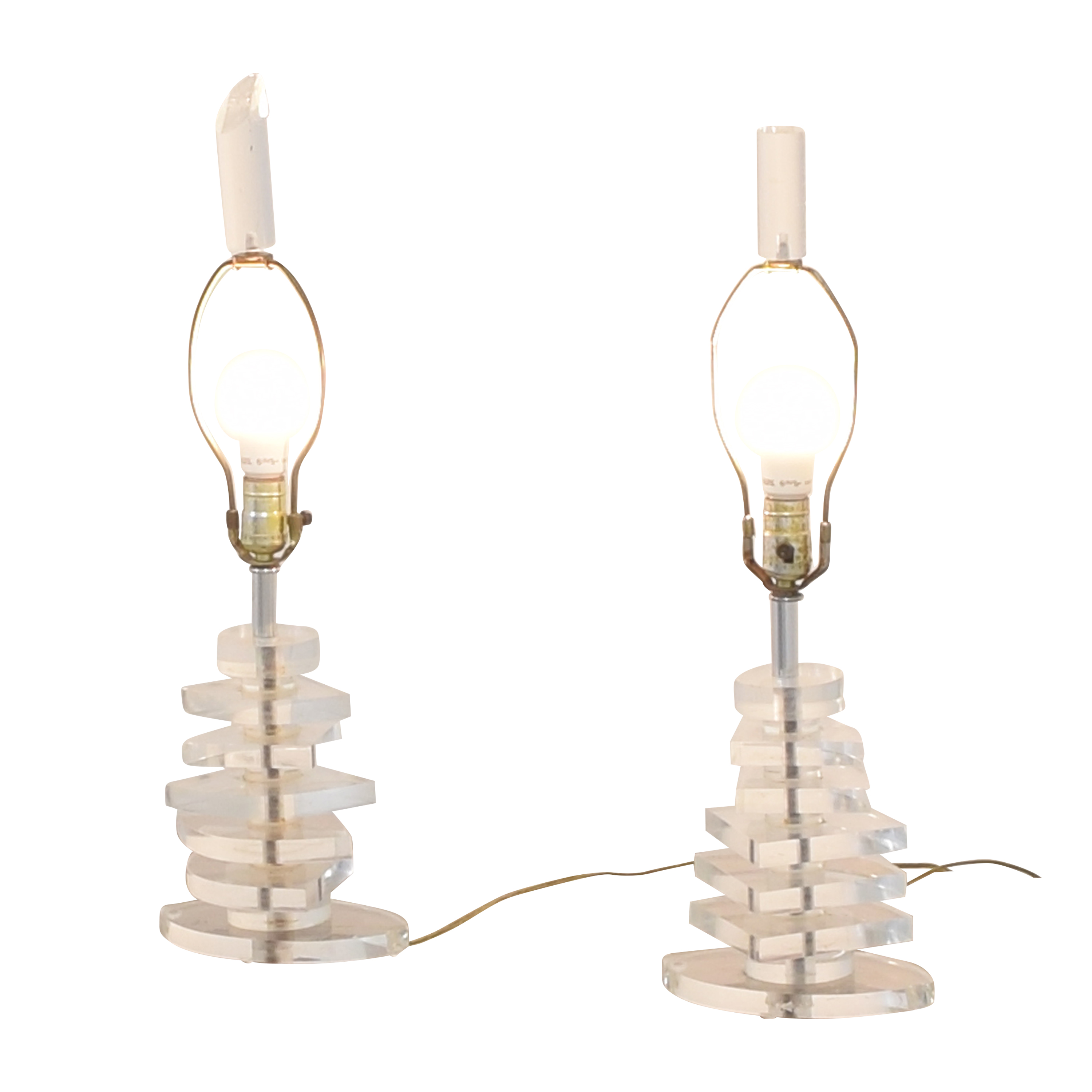 shop Vintage Stacked Table Lamps  Lamps