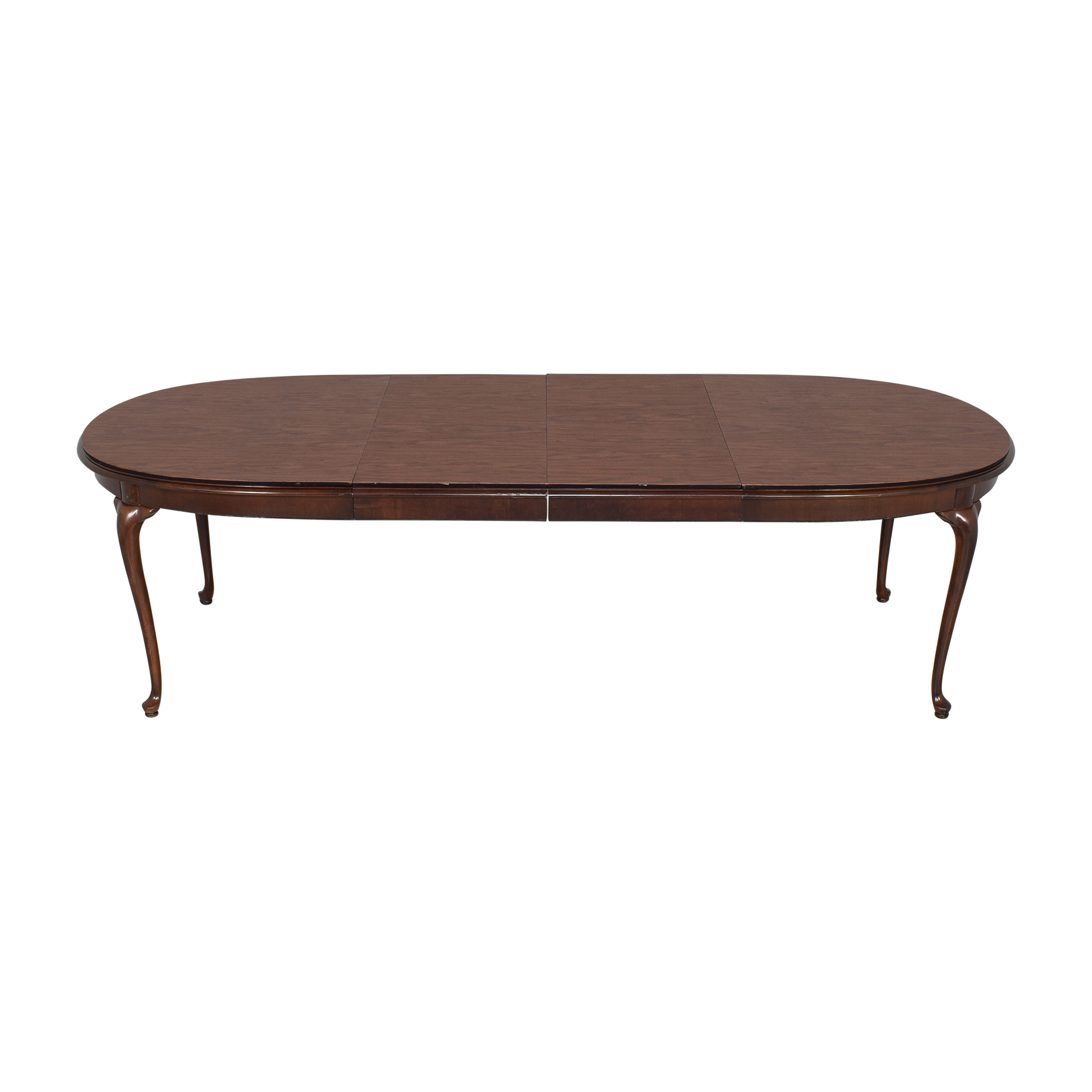 shop Thomasville Queen Anne Extendable Dining Table Thomasville Dinner Tables