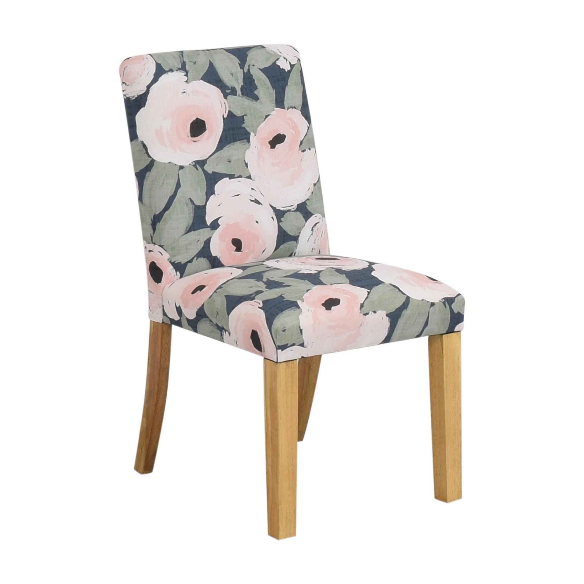 Skyline Furniture Skyline Furniture Ginny Floral Harvest Dining Chair dimensions