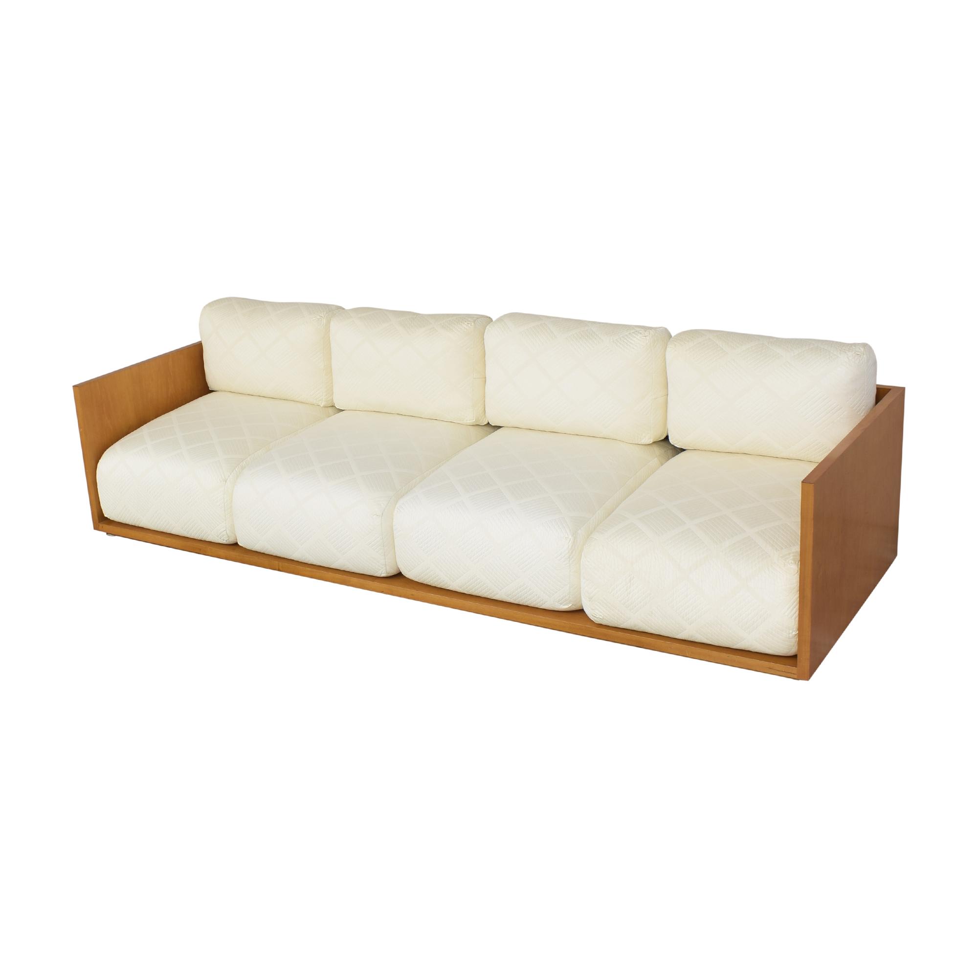 shop Custom Four Cushion Sofa