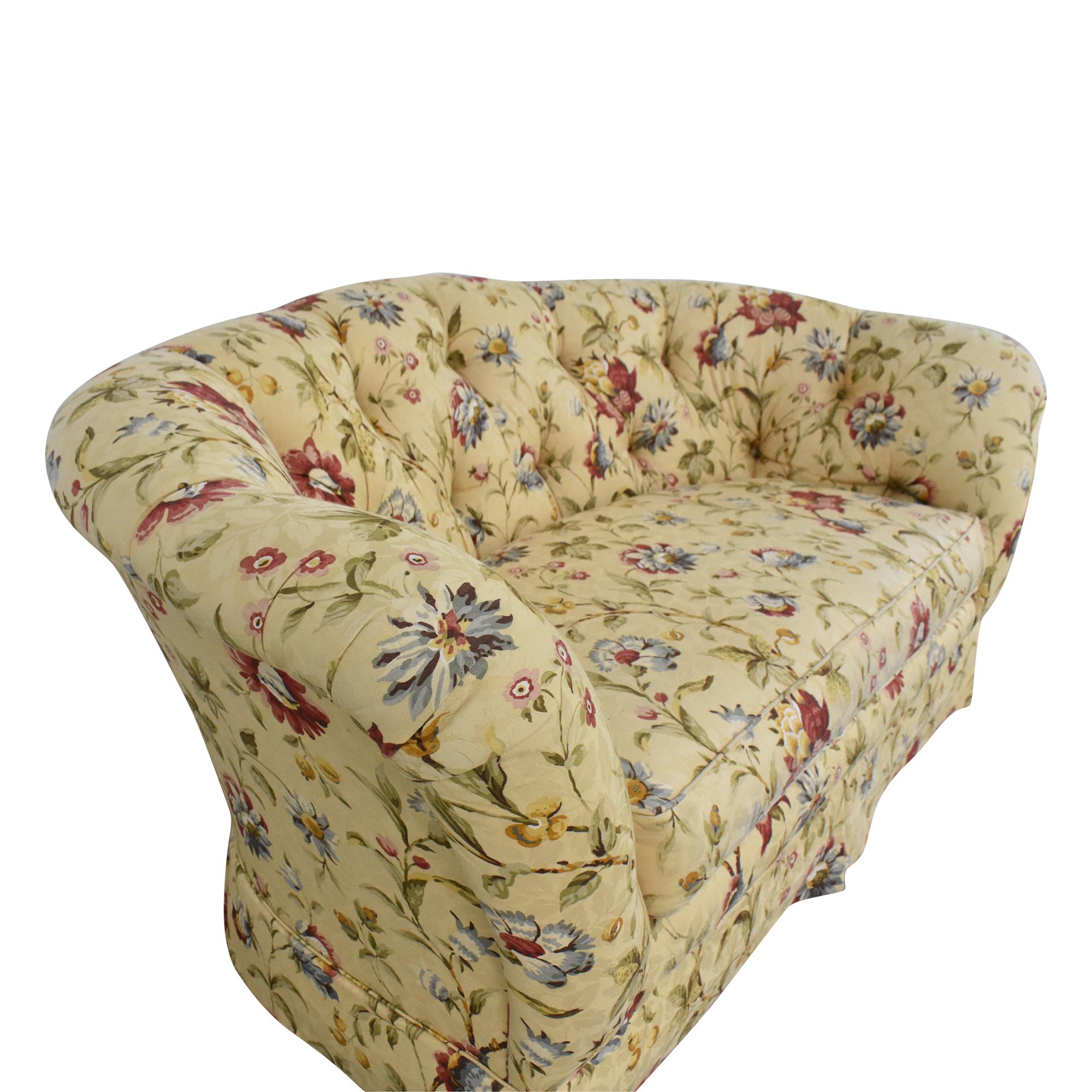 Ethan Allen Tufted Bench Cushion Sofa / Classic Sofas