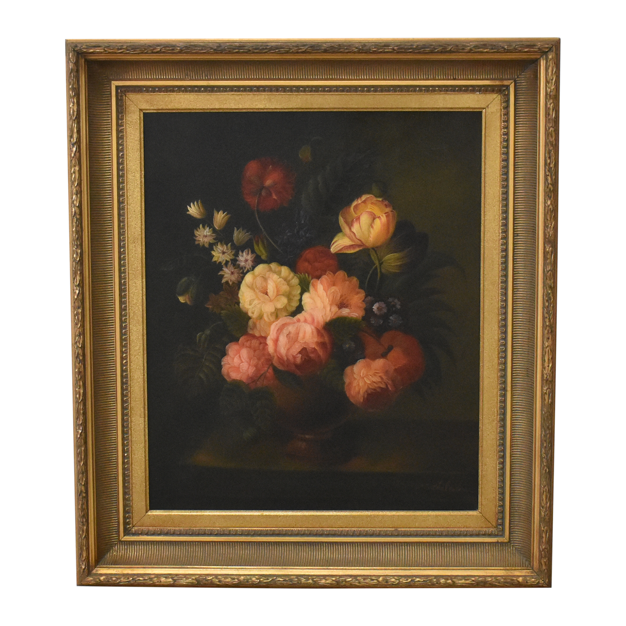 M. Chaloder Flemish-Style Floral Still Life Wall Art ct