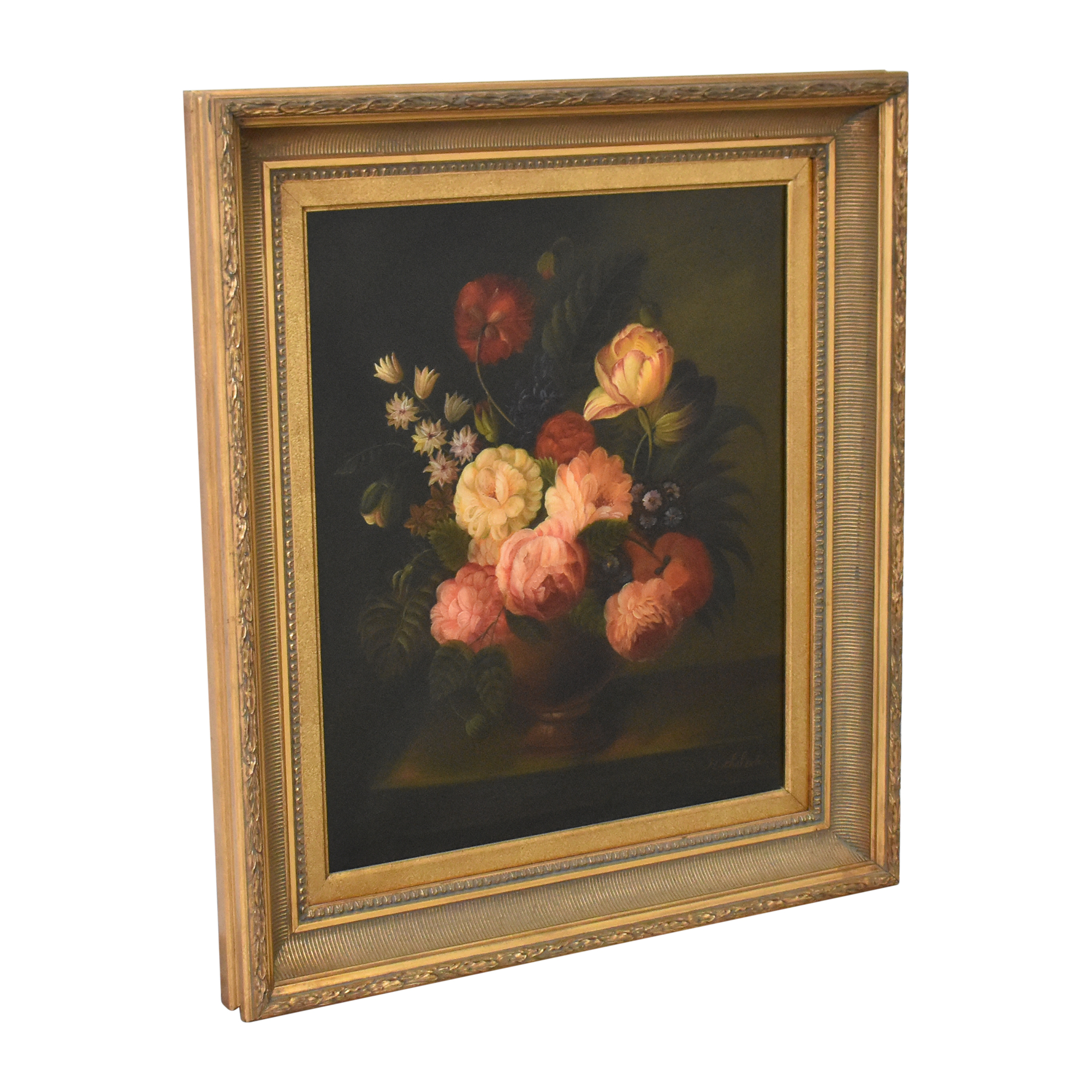 M. Chaloder Flemish-Style Floral Still Life Wall Art price