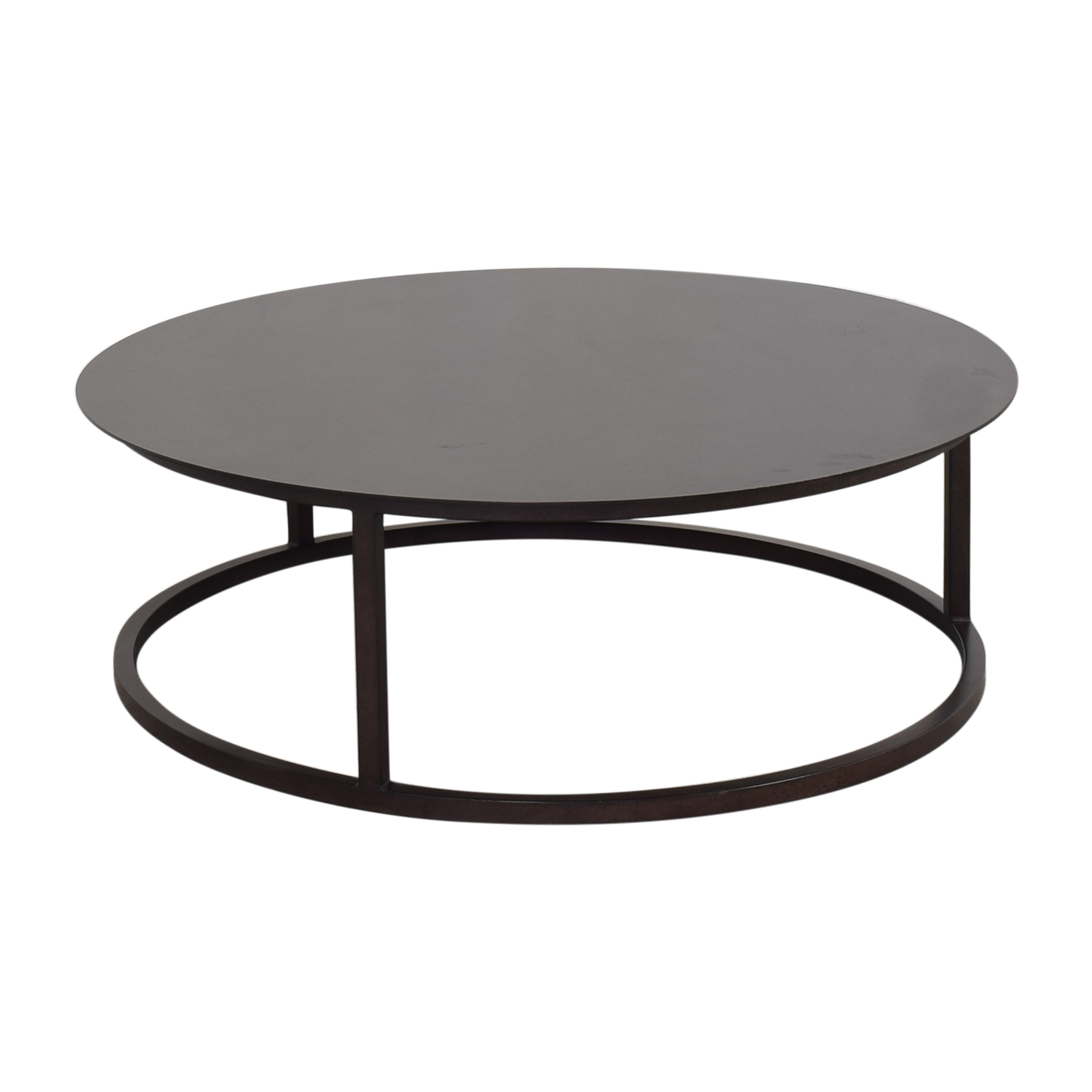 Restoration Hardware Round Mercer Coffee Table / Coffee Tables