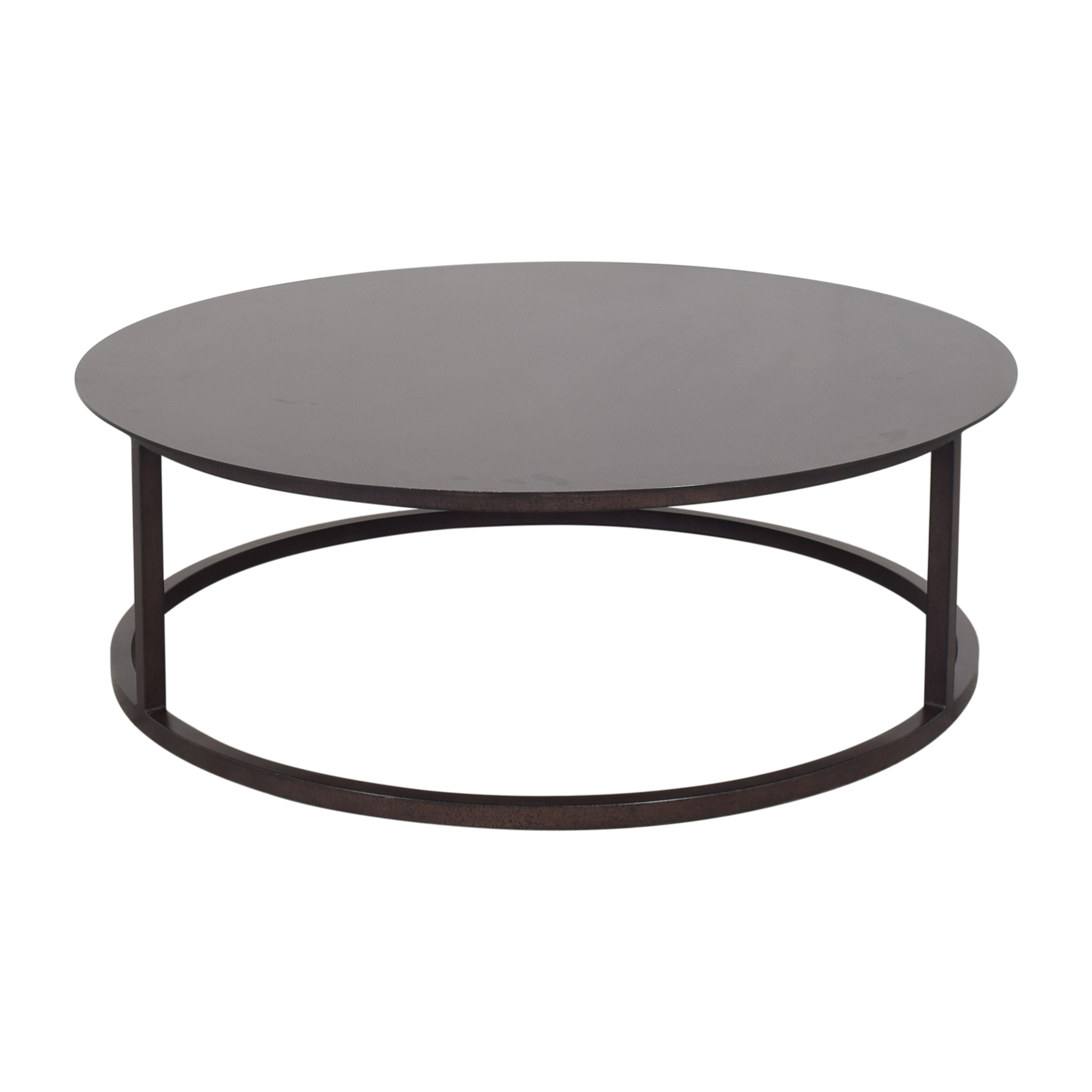 Restoration Hardware Restoration Hardware Round Mercer Coffee Table pa