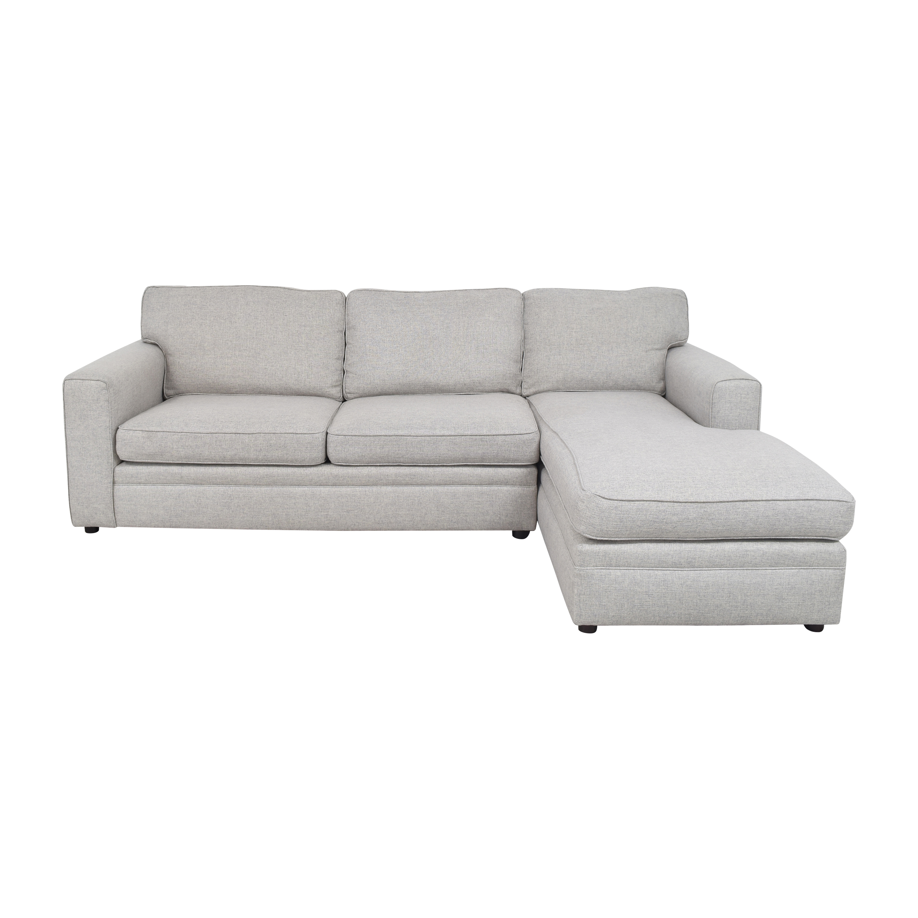 shop Pottery Barn Pearce Square Arm Chaise Sectional Sofa Pottery Barn Sectionals