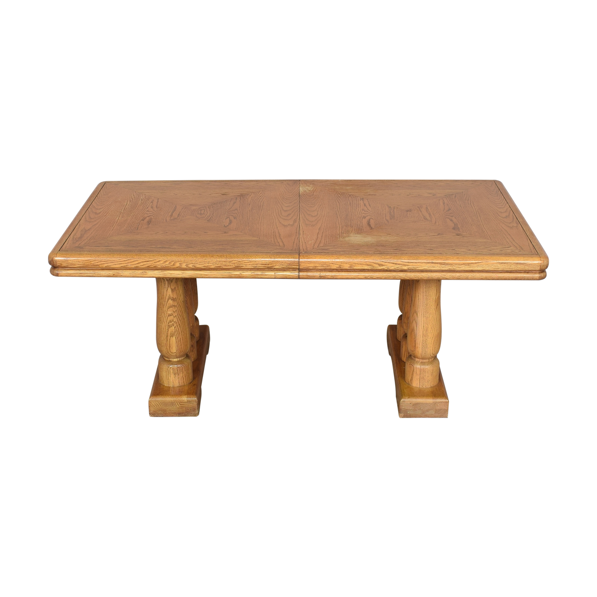 Extendable Two Pedestal Dining Table ma