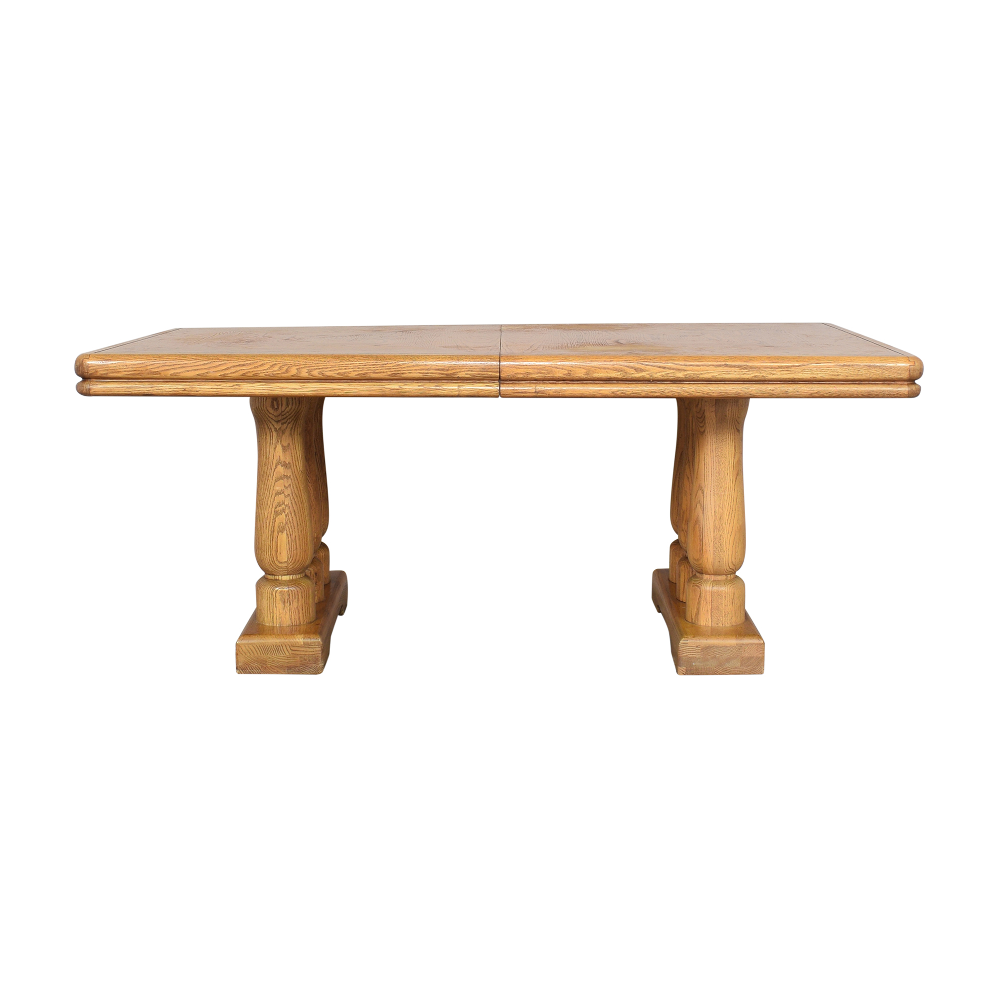Extendable Two Pedestal Dining Table / Dinner Tables
