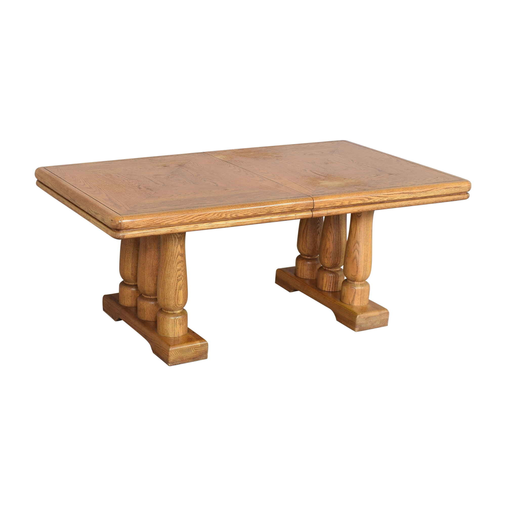 Extendable Two Pedestal Dining Table price