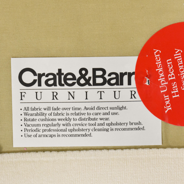 shop Crate & Barrel Flared Arm Sofa Crate & Barrel Sofas