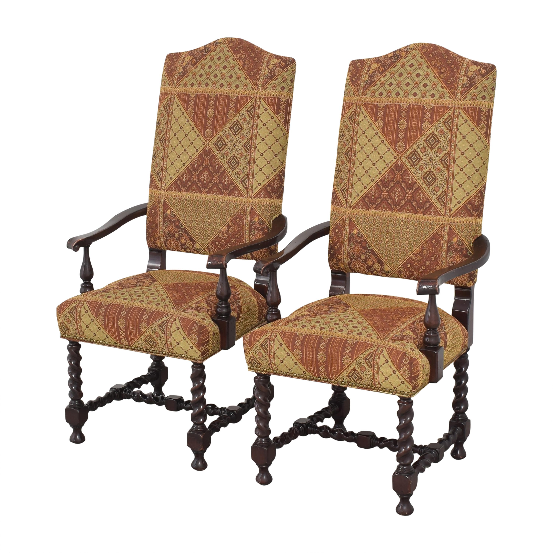 Charles Stewart Barley Twist Dining Arm Chairs Charles Stewart Company