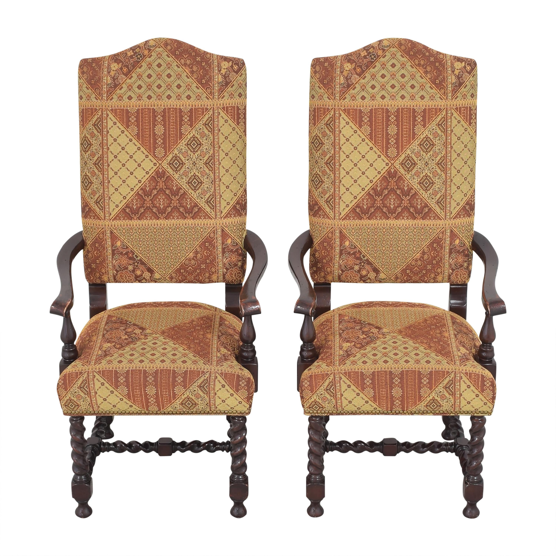 Charles Stewart Company Charles Stewart Barley Twist Dining Arm Chairs used