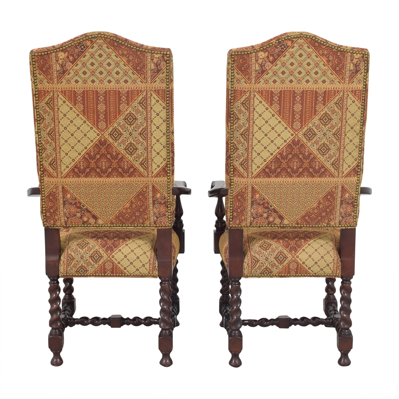 Charles Stewart Company Charles Stewart Barley Twist Dining Arm Chairs Dining Chairs