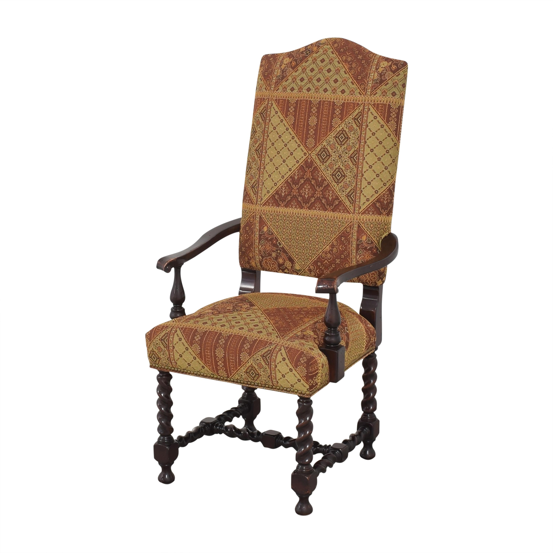 Charles Stewart Company Charles Stewart Barley Twist Dining Arm Chairs on sale