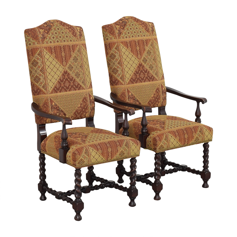 Charles Stewart Company Charles Stewart Barley Twist Dining Arm Chairs pa