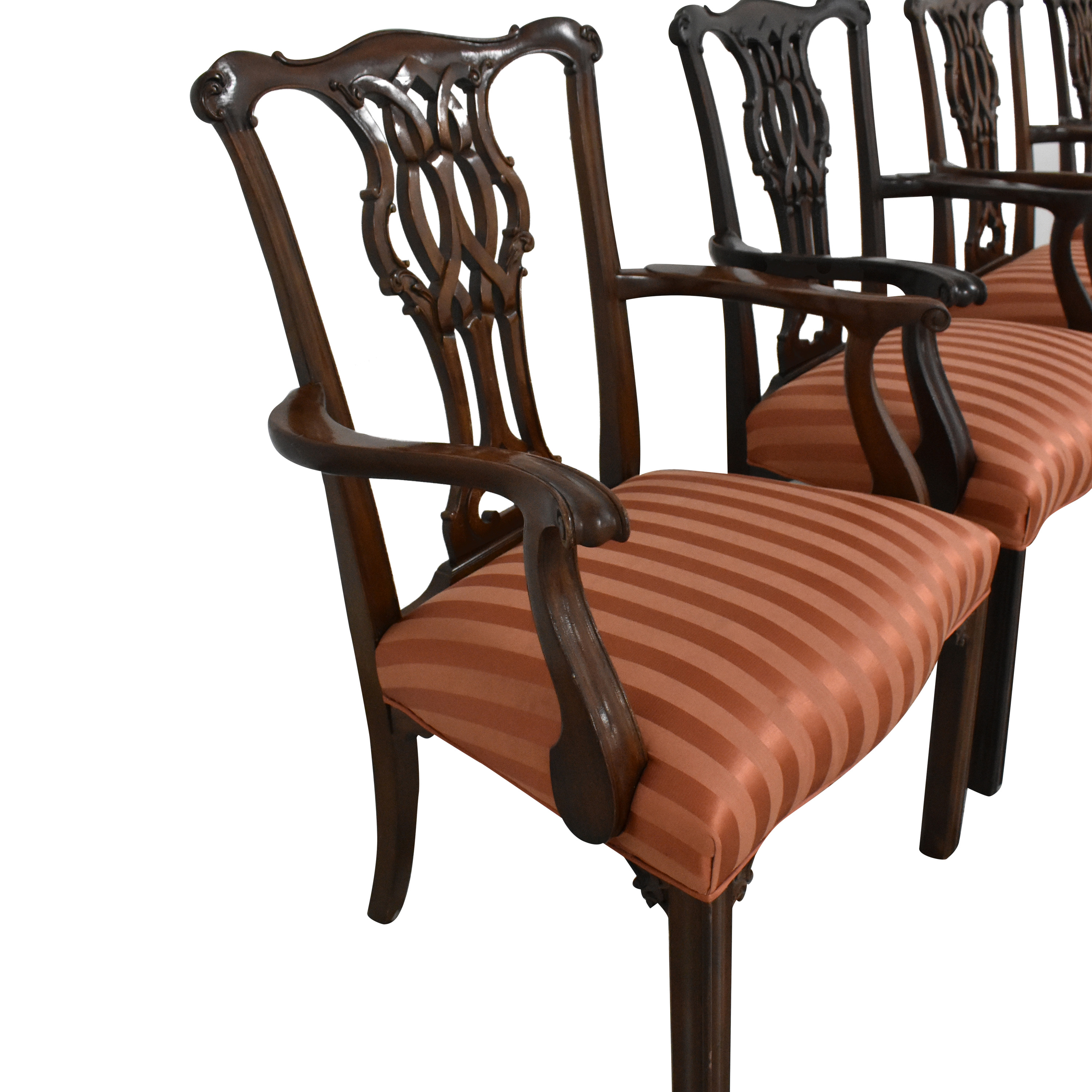 Baker Furniture Baker Furniture Chippendale Dining Chairs pa