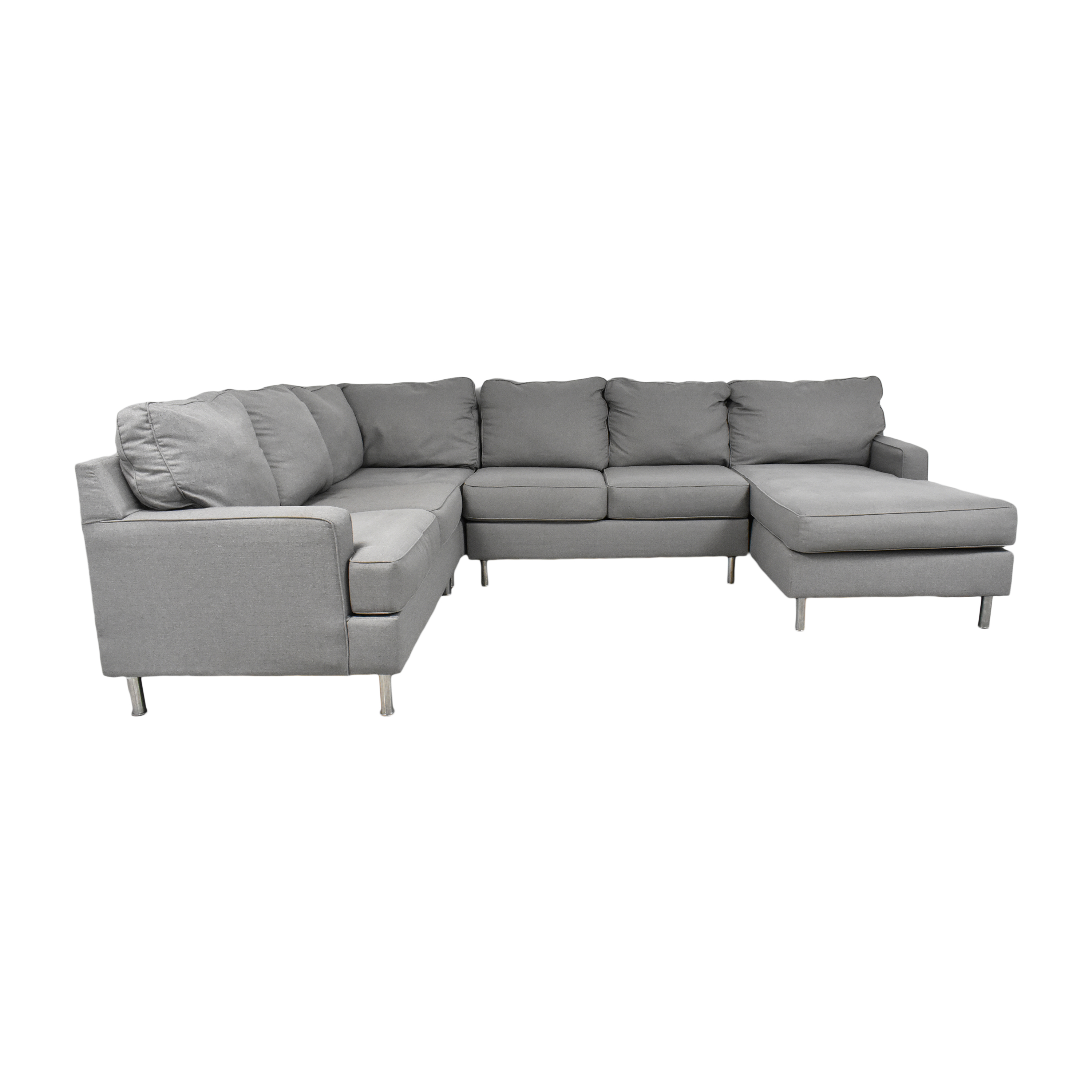 Ashley Furniture Ashley Furniture Modern Four Piece Chaise Sectional Sofas