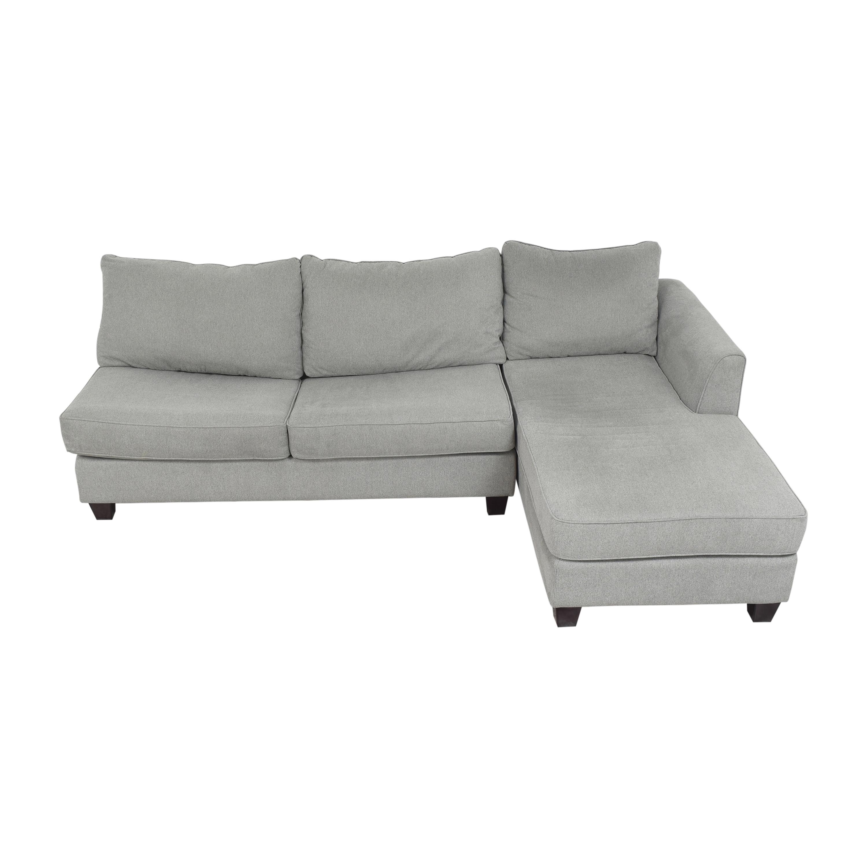 Raymour & Flanigan Raymour & Flanigan Daine Chaise Sectional Sleeper Sofa price