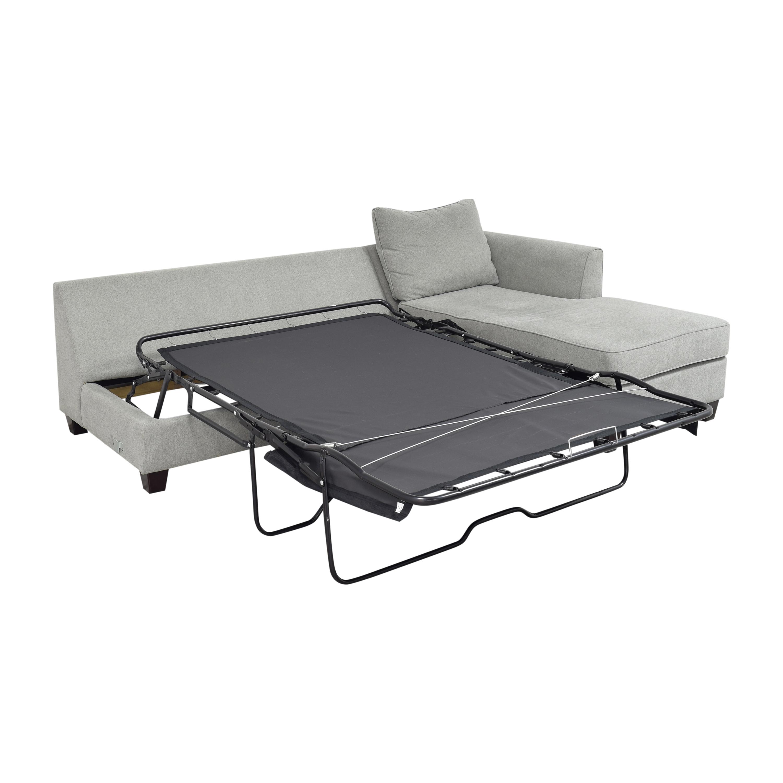 Raymour & Flanigan Daine Chaise Sectional Sleeper Sofa sale