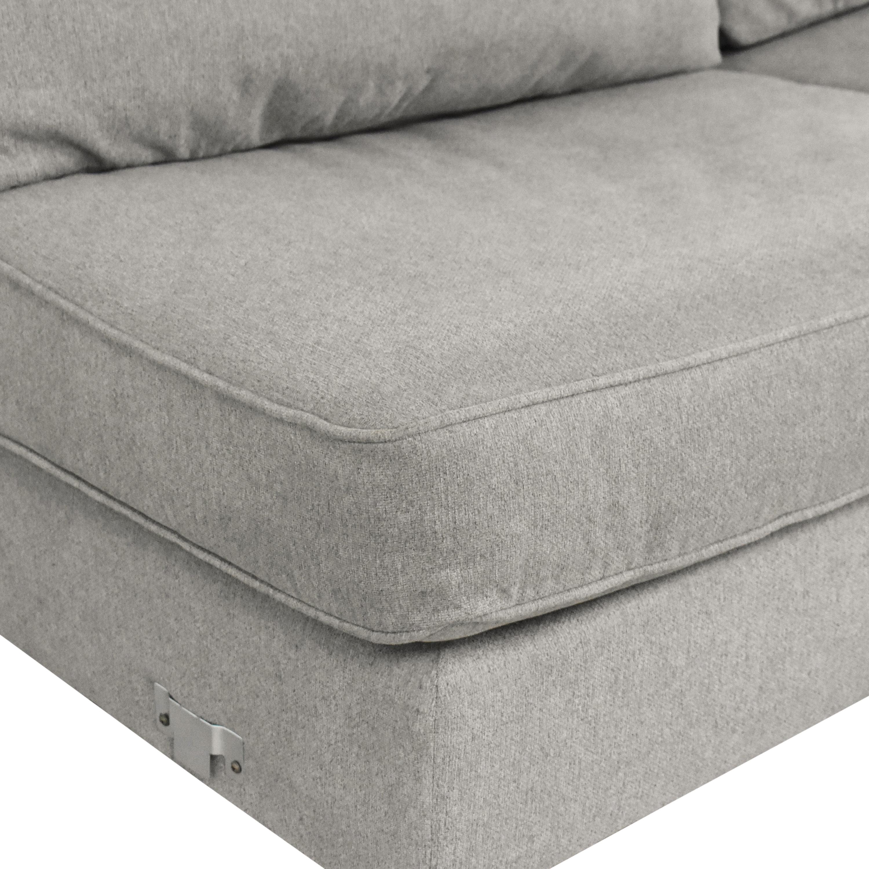 buy Raymour & Flanigan Daine Chaise Sectional Sleeper Sofa Raymour & Flanigan