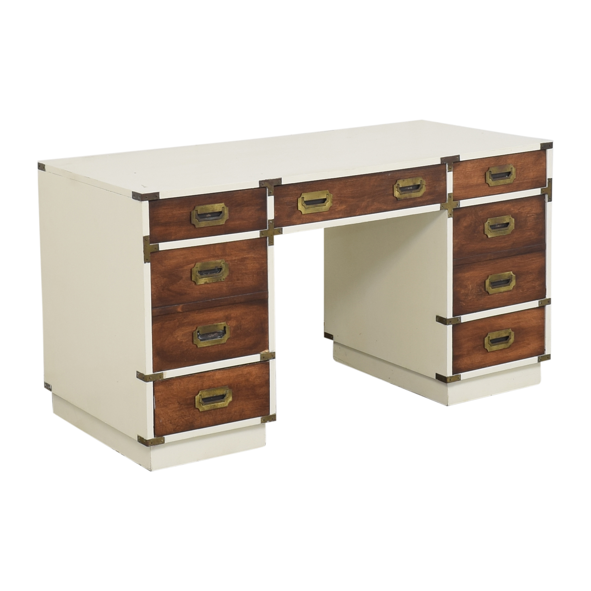 Campaign-Style Executive Desk Tables
