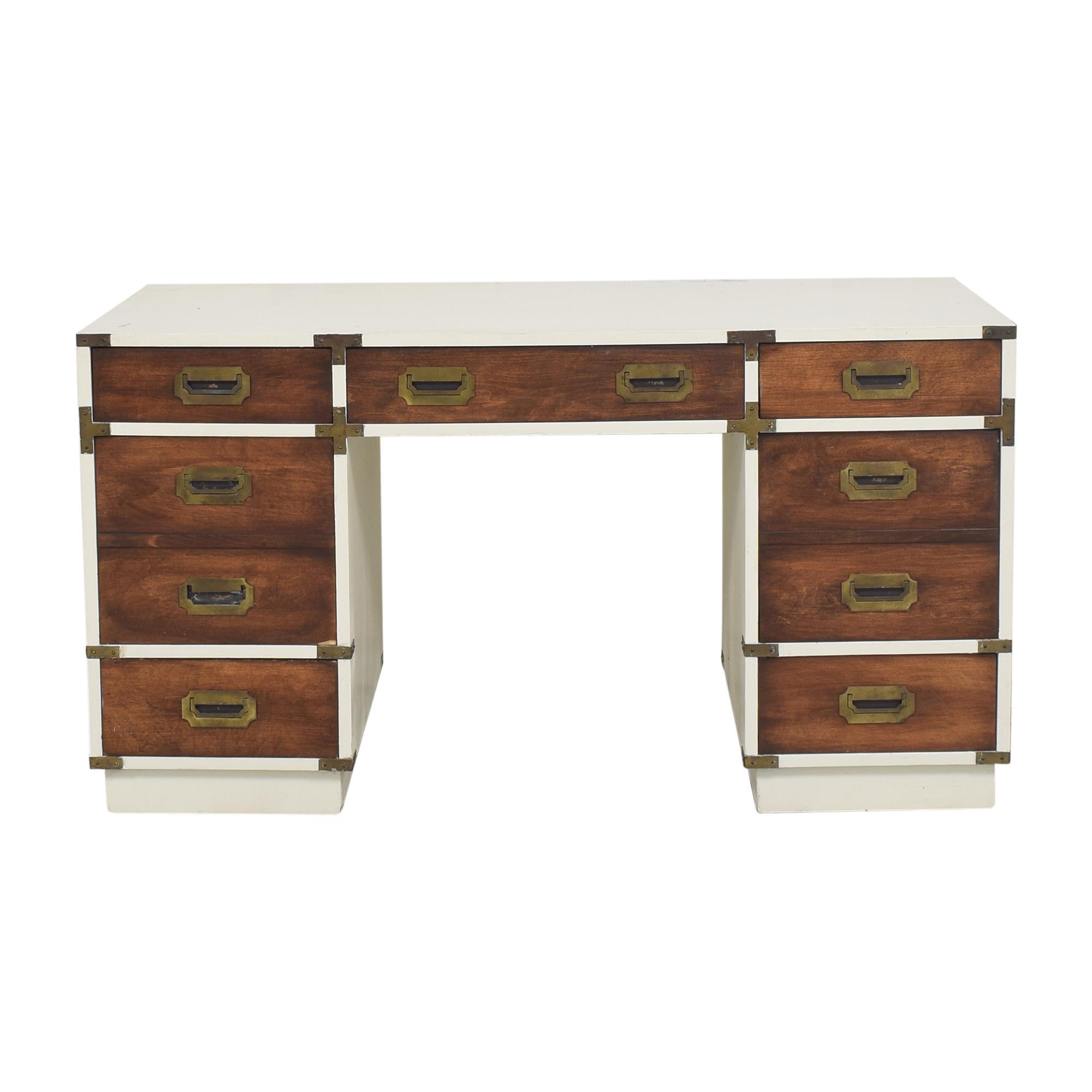 shop Campaign-Style Executive Desk  Tables